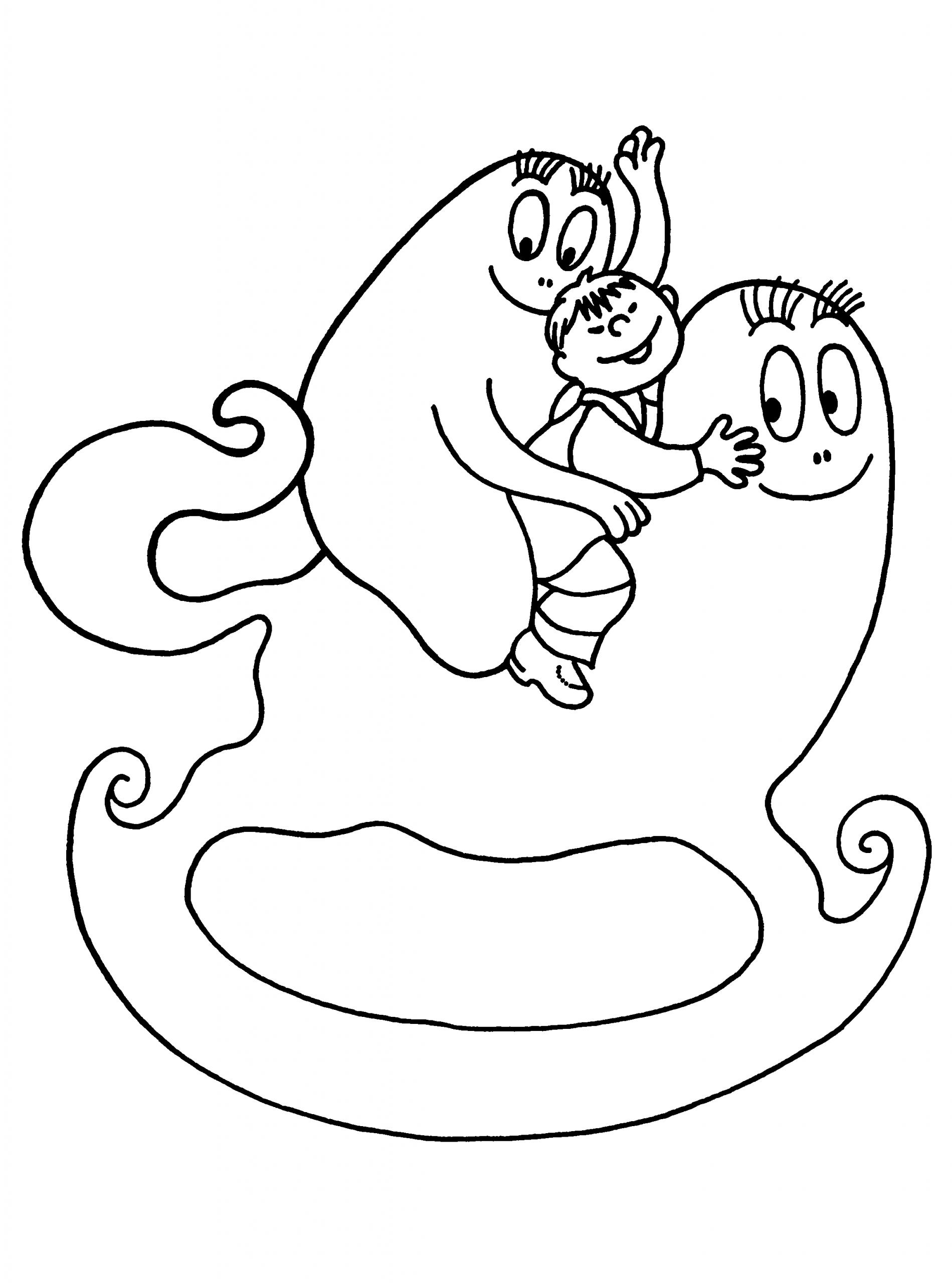 Coloriage Barbapapa Dessin Animé À Imprimer avec Coloriage Barbapapa À Imprimer Gratuit