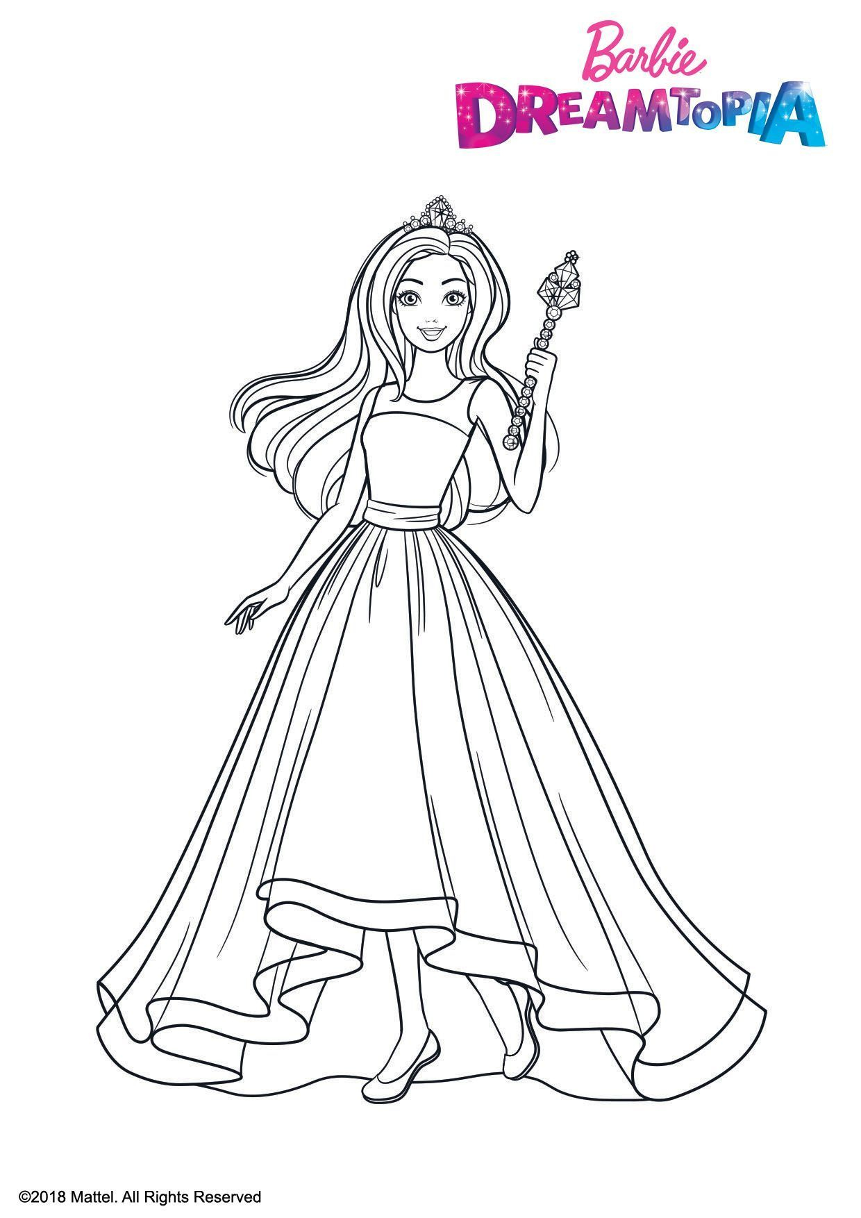 Coloriage Barbie Princesse Arc-En-Ciel - Coloriage Barbie concernant Arc En Ciel A Colorier
