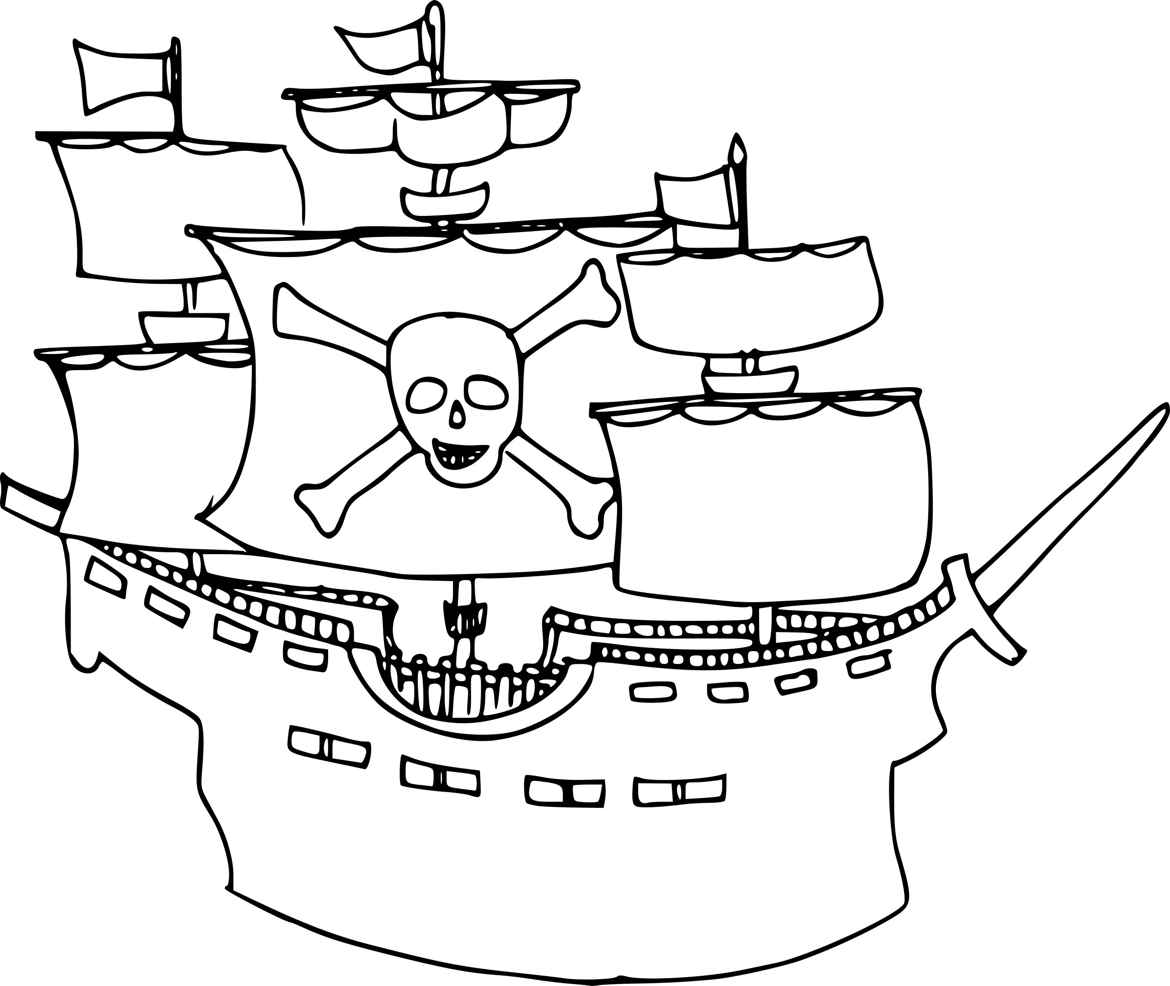 Coloriage Bateau De Pirate Dessin À Imprimer Sur Coloriages concernant Dessin A Imprimer De Pirate