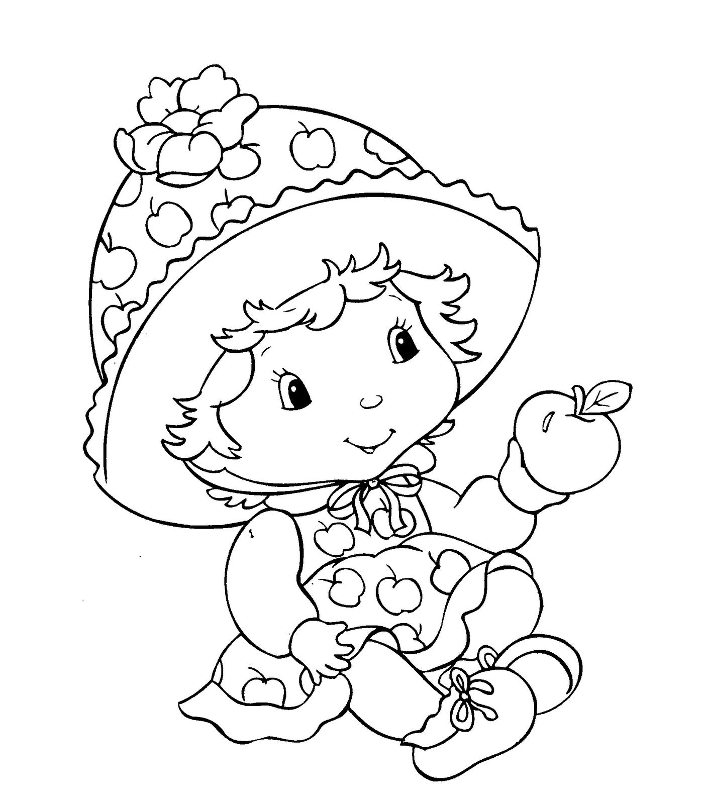 Coloriage Bébé Charlotte Aux Fraises À Imprimer Et Colorier tout Charlotte Au Fraise Coloriage