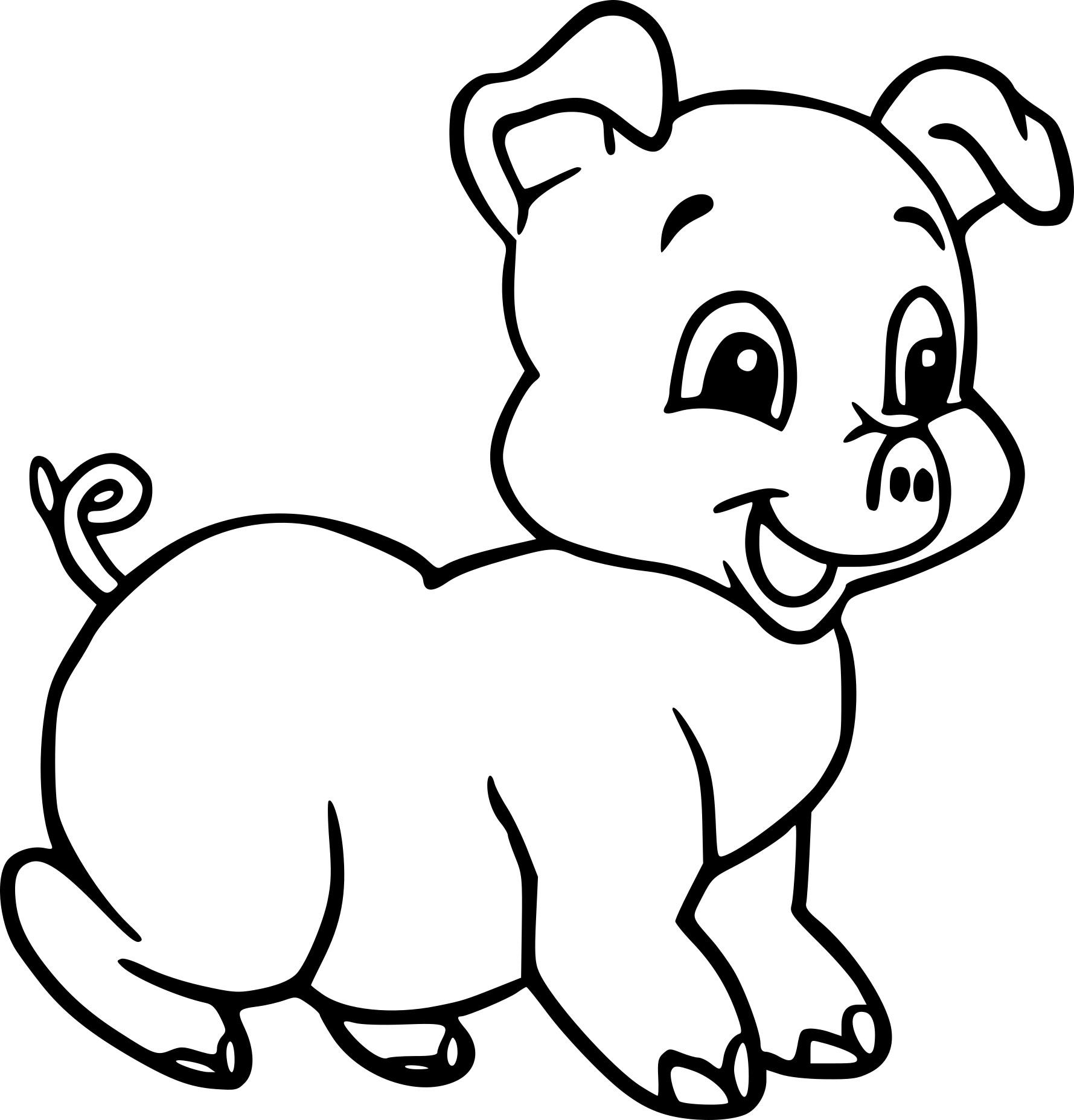 Coloriage Bébé Cochon Dessin À Imprimer Sur Coloriages tout Dessin Cochon A Colorier