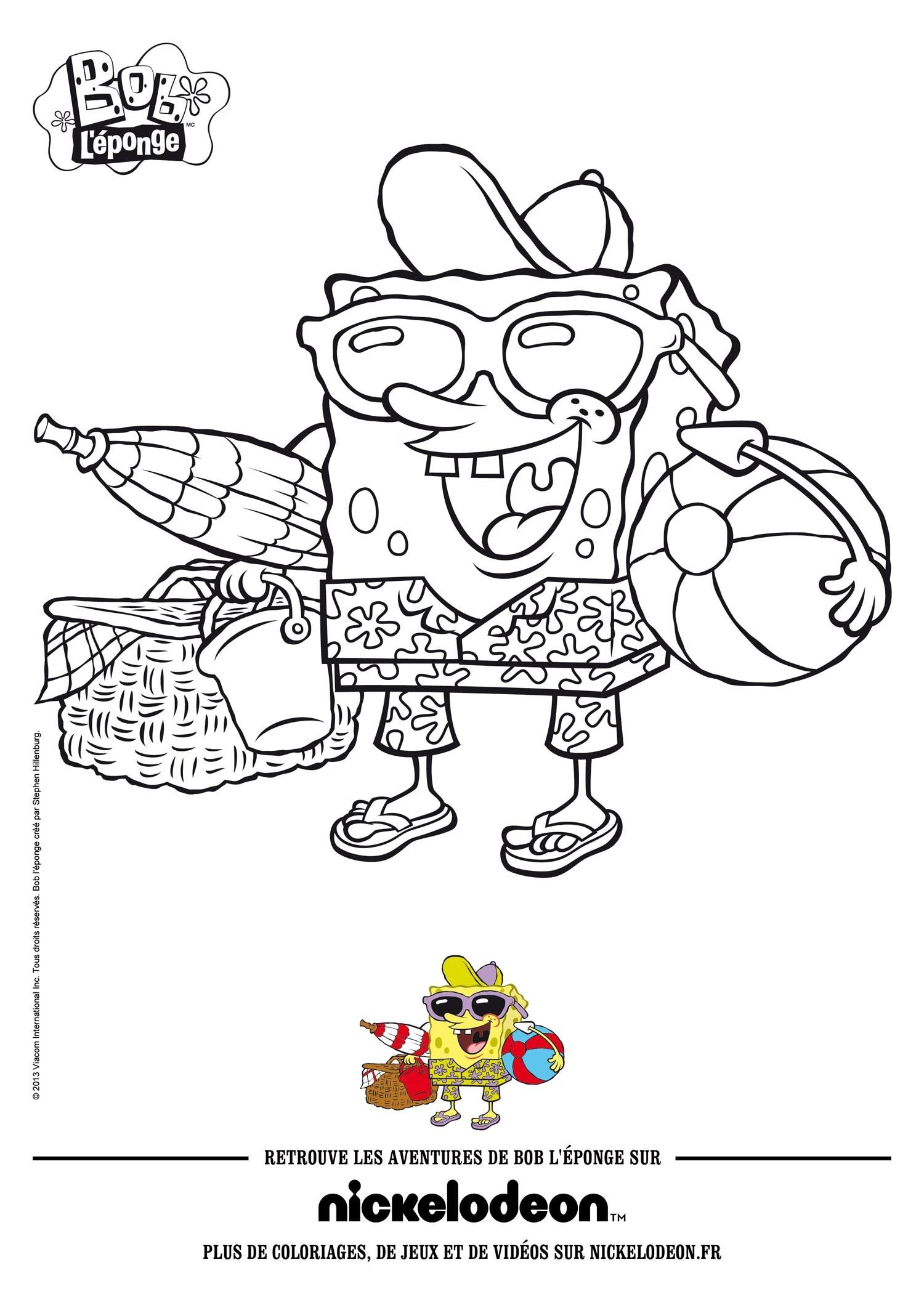 Coloriage Bob L'eponge - Coloriages - Coloriage À Imprimer concernant Image Bob L Éponge A Imprimer