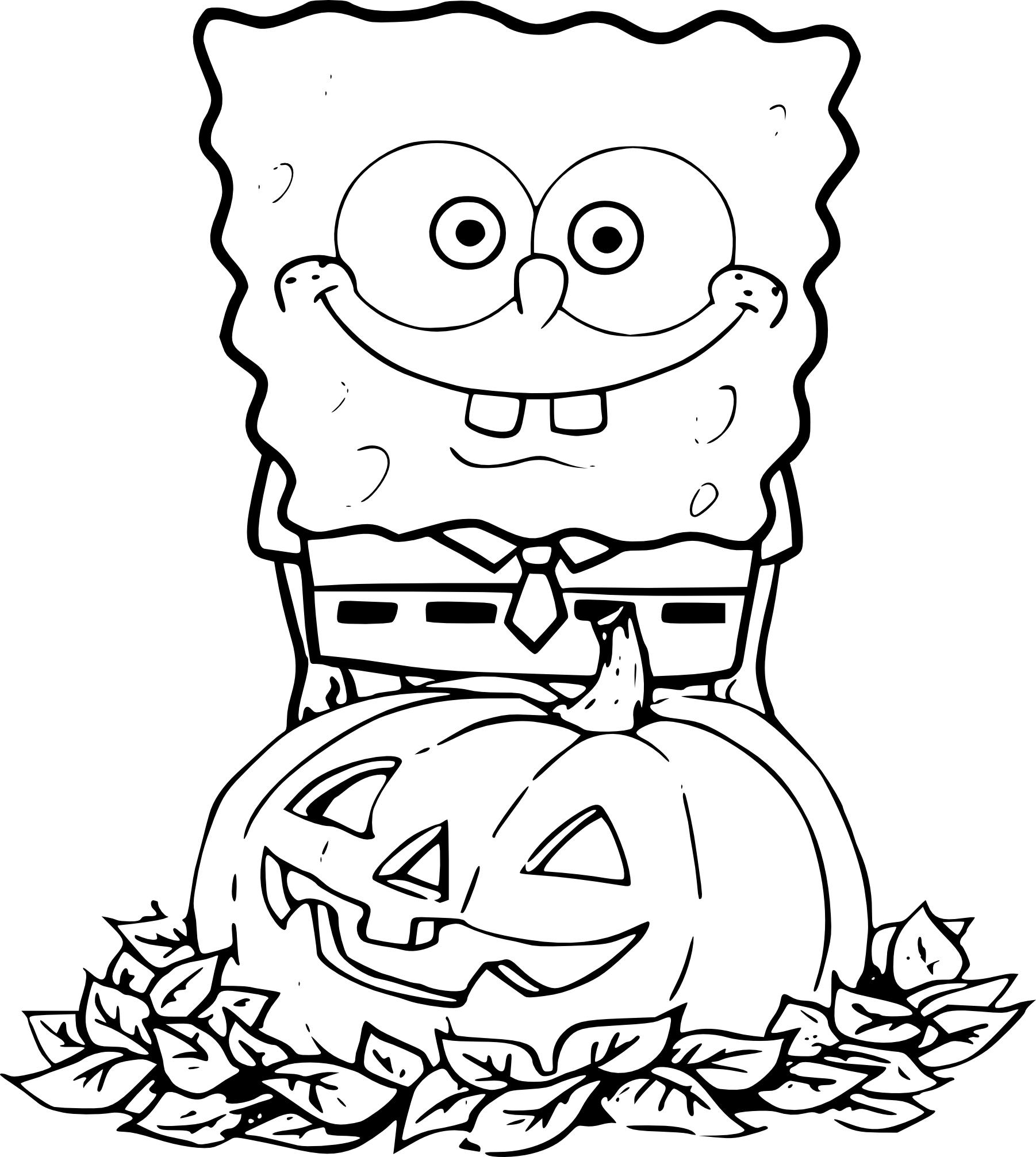 Coloriage Bob L'éponge Halloween À Imprimer tout Image Bob L Éponge A Imprimer