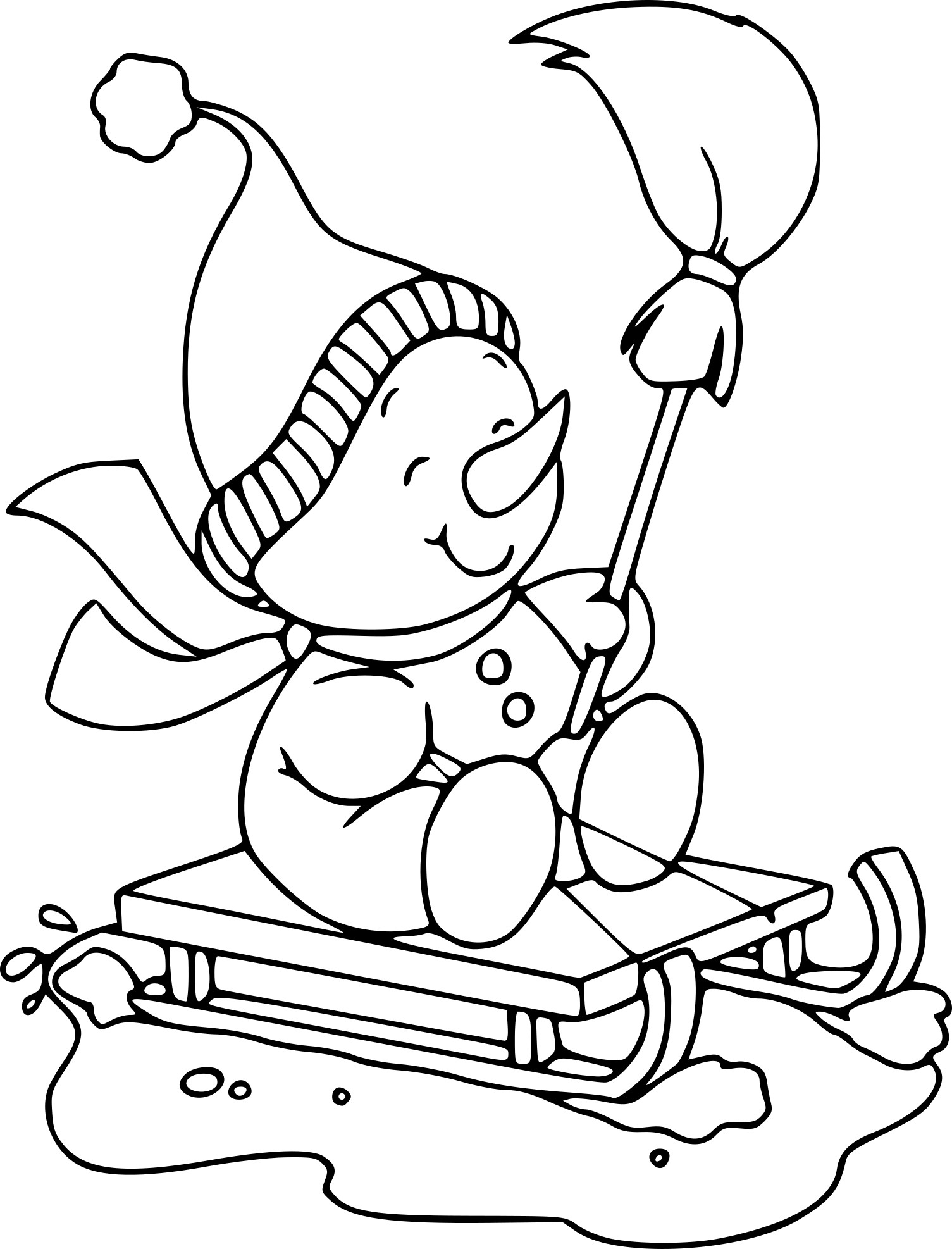 Coloriage Bonhomme De Neige Et Dessin À Imprimer destiné Dessin Bonhomme De Neige A Imprimer