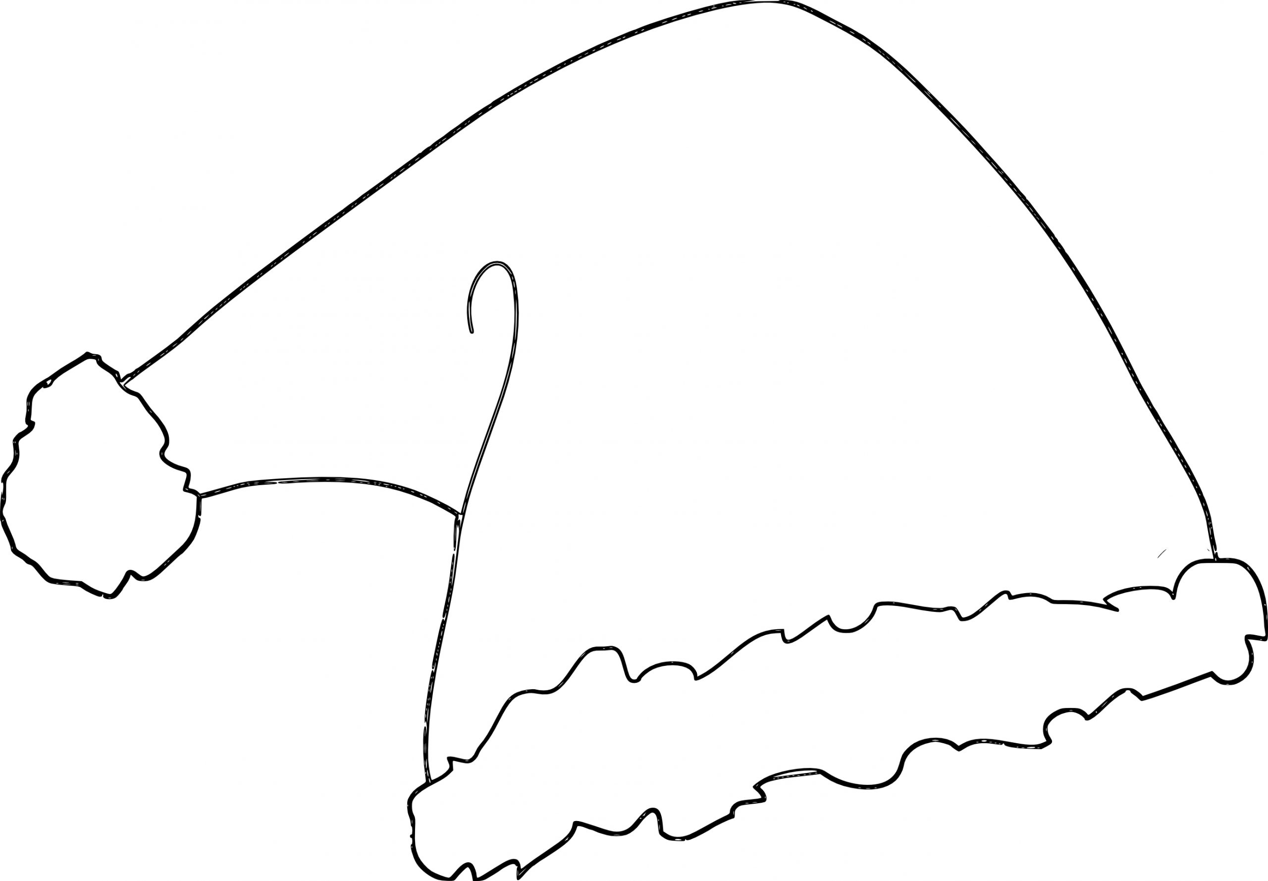 Coloriage Bonnet Père Noël À Imprimer Et Colorier à Coloriage De Pere Noel A Imprimer Gratuitement