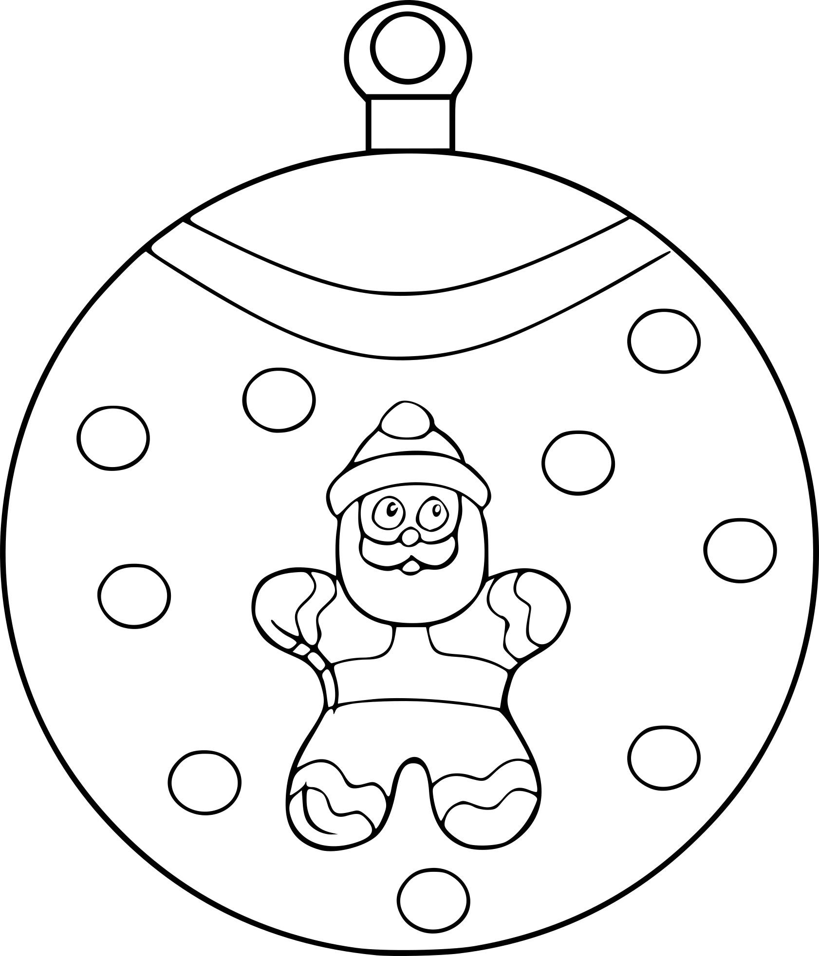 Coloriage Boule Père Noël À Imprimer pour Coloriage De Pere Noel A Imprimer Gratuitement