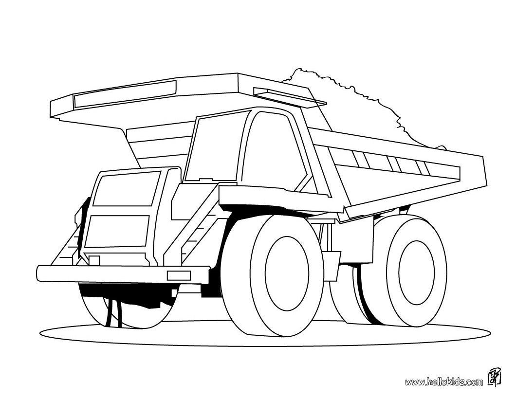 Coloriage Camion Benne - Les Beaux Dessins De Transport À encequiconcerne Dessin D Un Camion