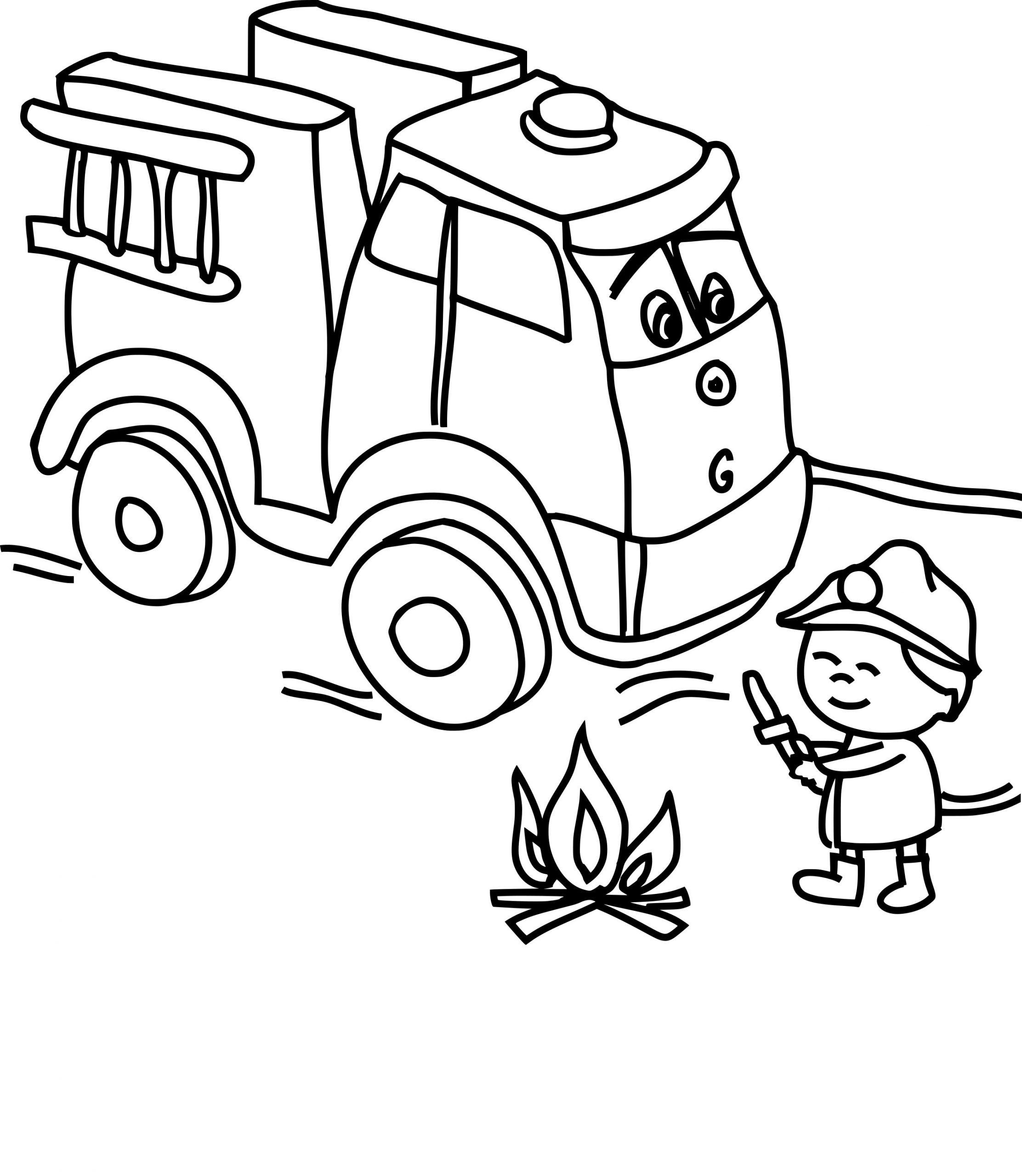 Coloriage Camion Pompier Dessin À Imprimer Sur Coloriages tout Dessin D Un Camion