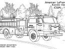 Coloriage Camion Pompier - Les Beaux Dessins De Transport À intérieur Jeux Gratuit De Pompier