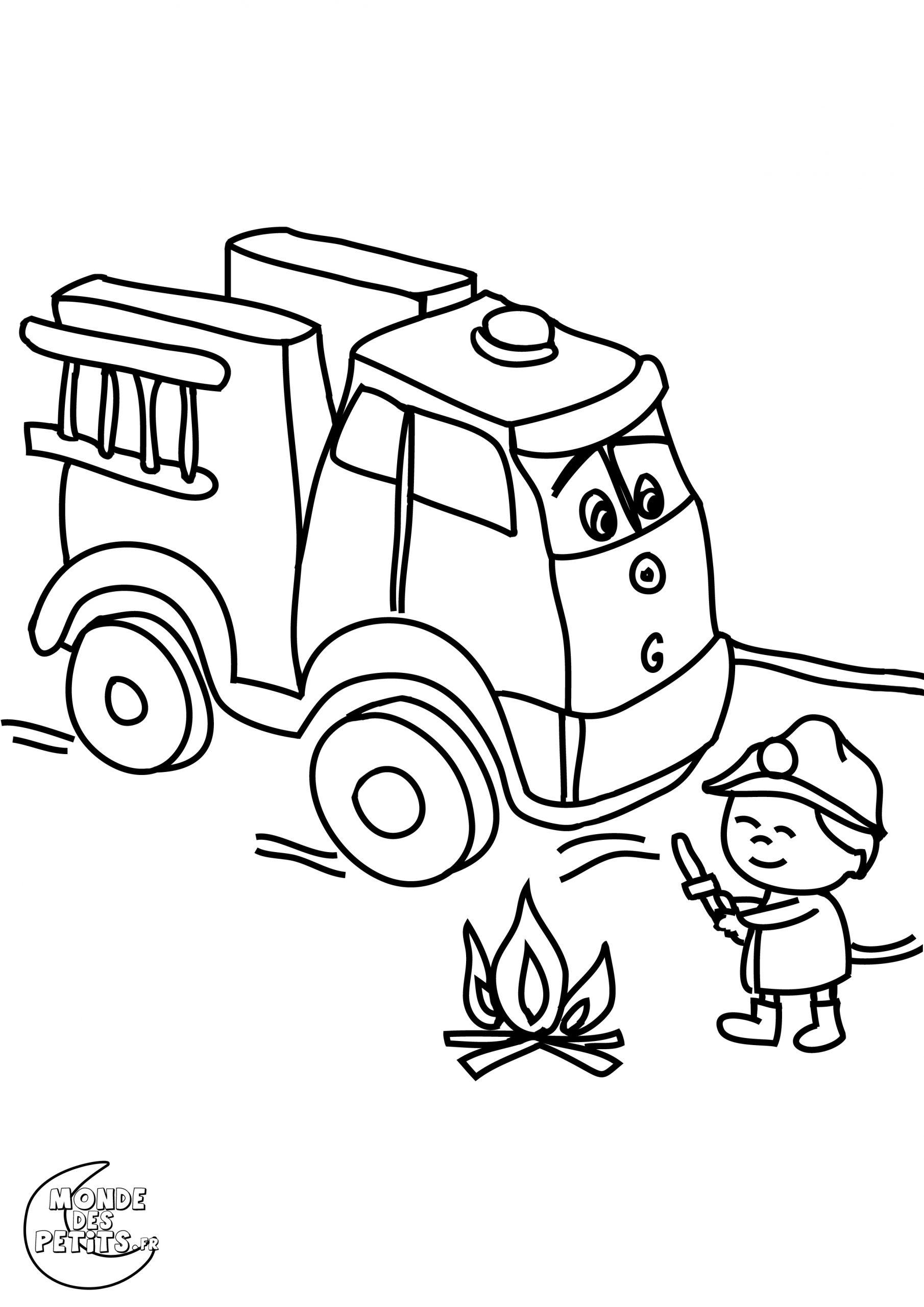 Coloriage Camion Pompier - Les Beaux Dessins De Transport À tout Dessin De Pompier À Imprimer