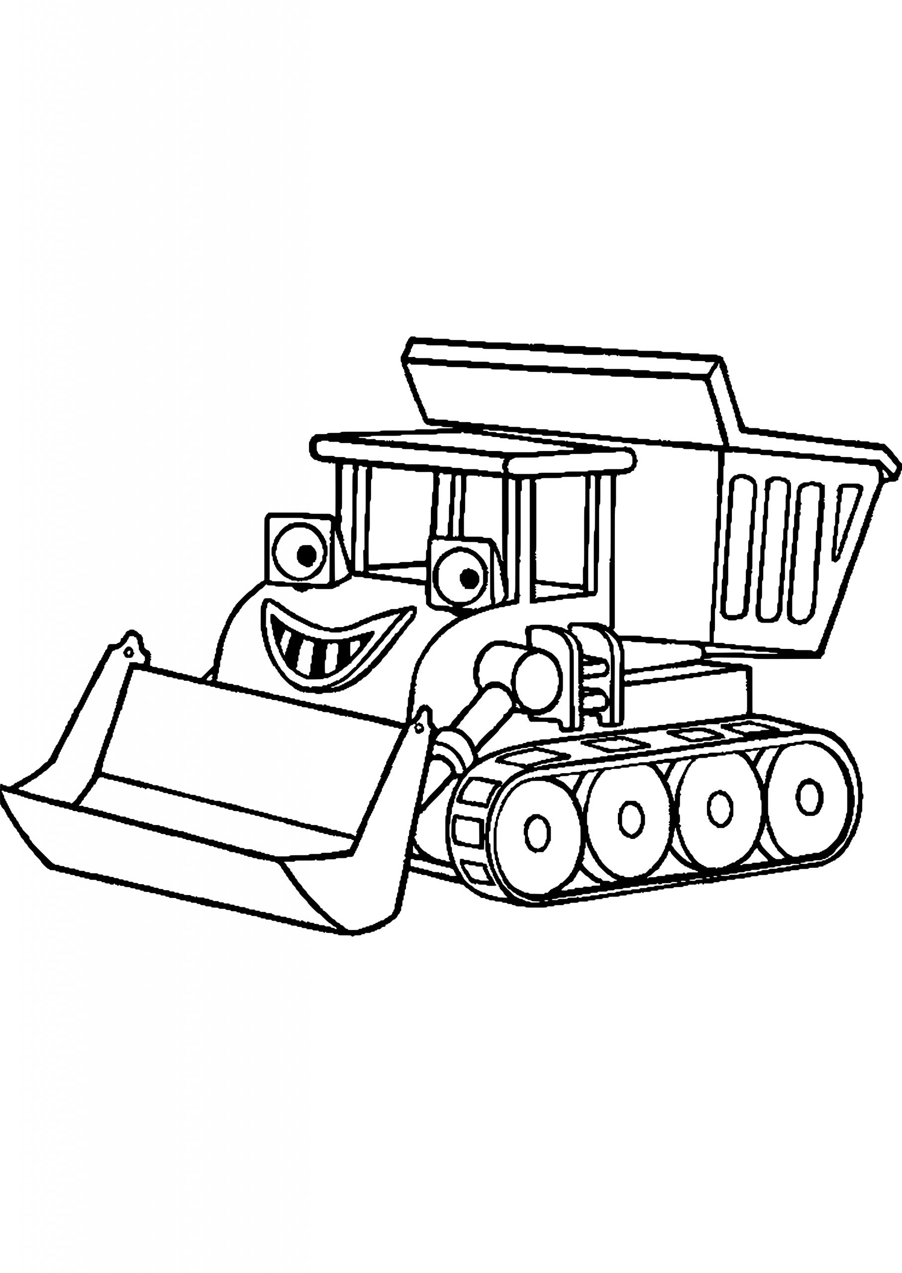 Coloriage Camion Remorque avec Coloriage Tracteur Tom À Imprimer
