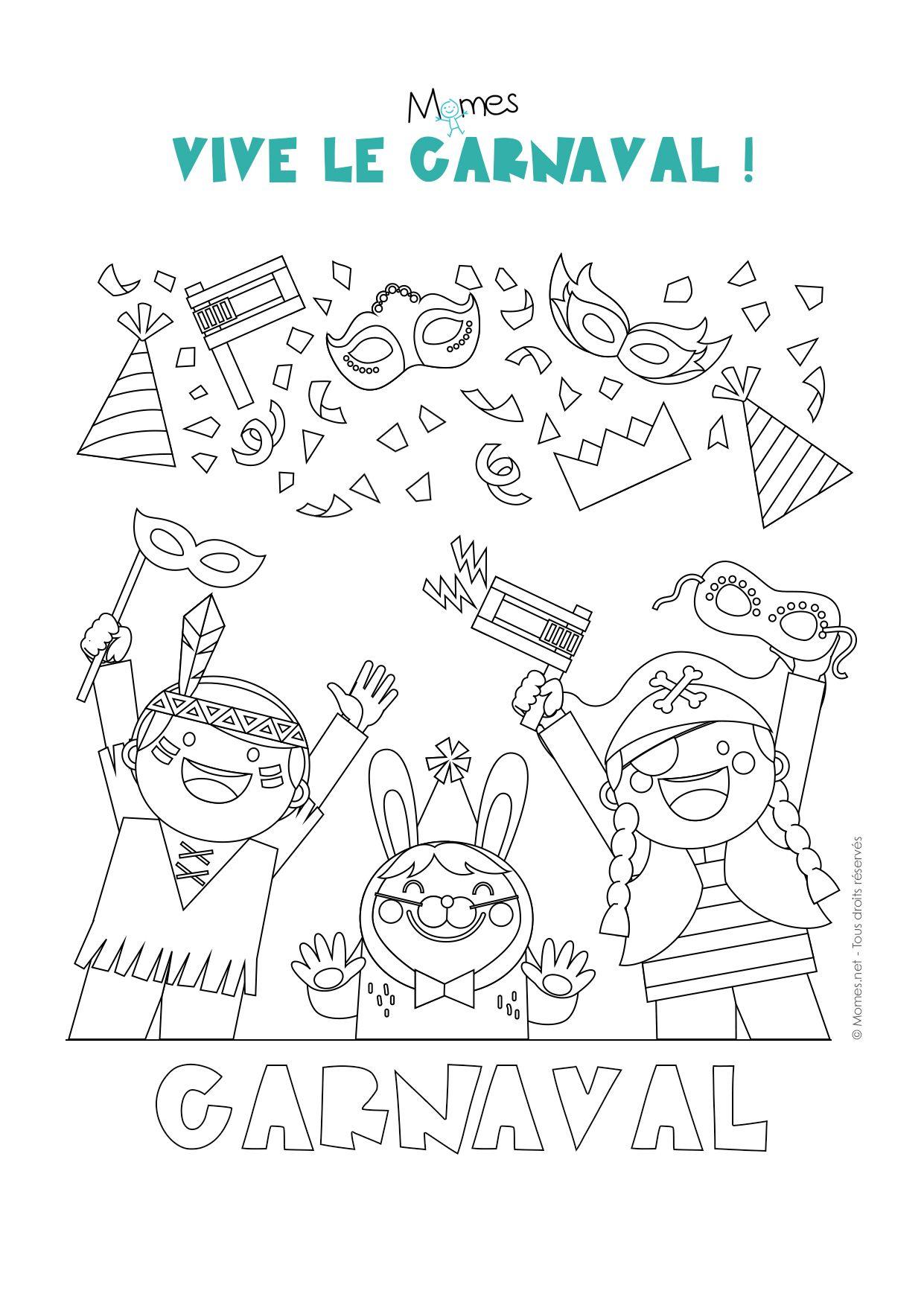 Coloriage Carnaval | Coloriage Carnaval, Carnaval Et Dessin serapportantà Coloriage De Carnaval A Imprimer Gratuit