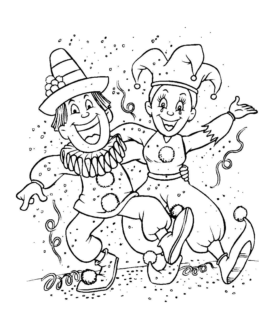 Coloriage Carnaval - Coloriages Pour Enfants destiné Coloriage De Carnaval A Imprimer Gratuit