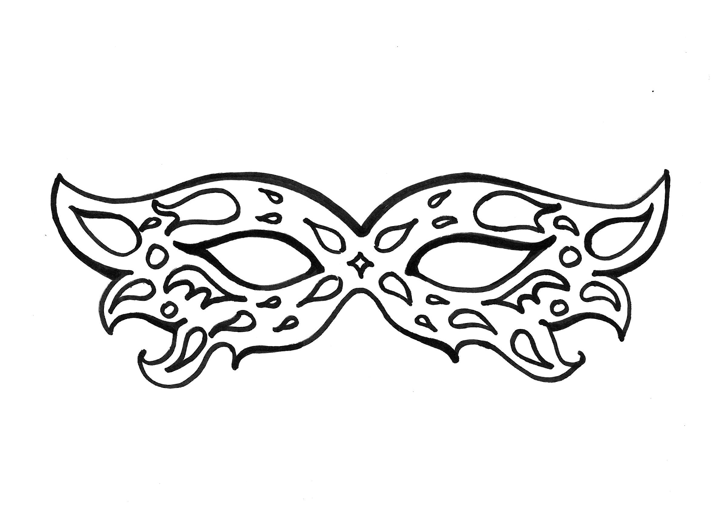 Coloriage Carnaval - Coloriages Pour Enfants tout Modele Masque De Carnaval A Imprimer