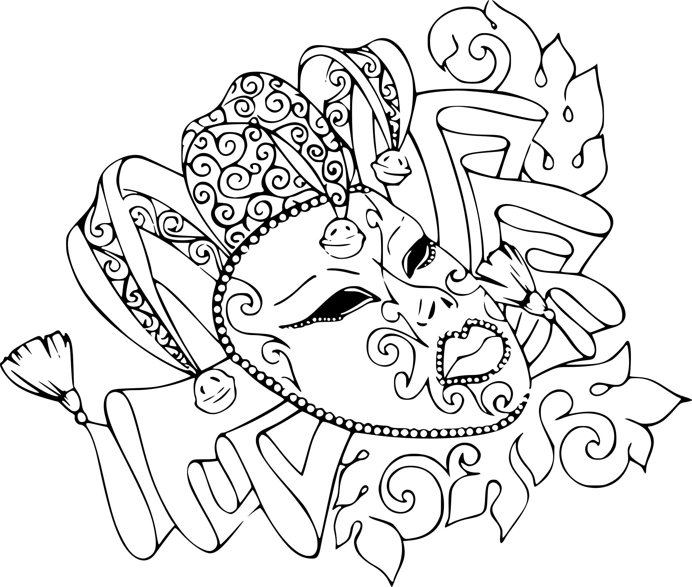 Coloriage Carnaval Rio À Imprimer Sur Coloriages avec Coloriage De Carnaval A Imprimer Gratuit