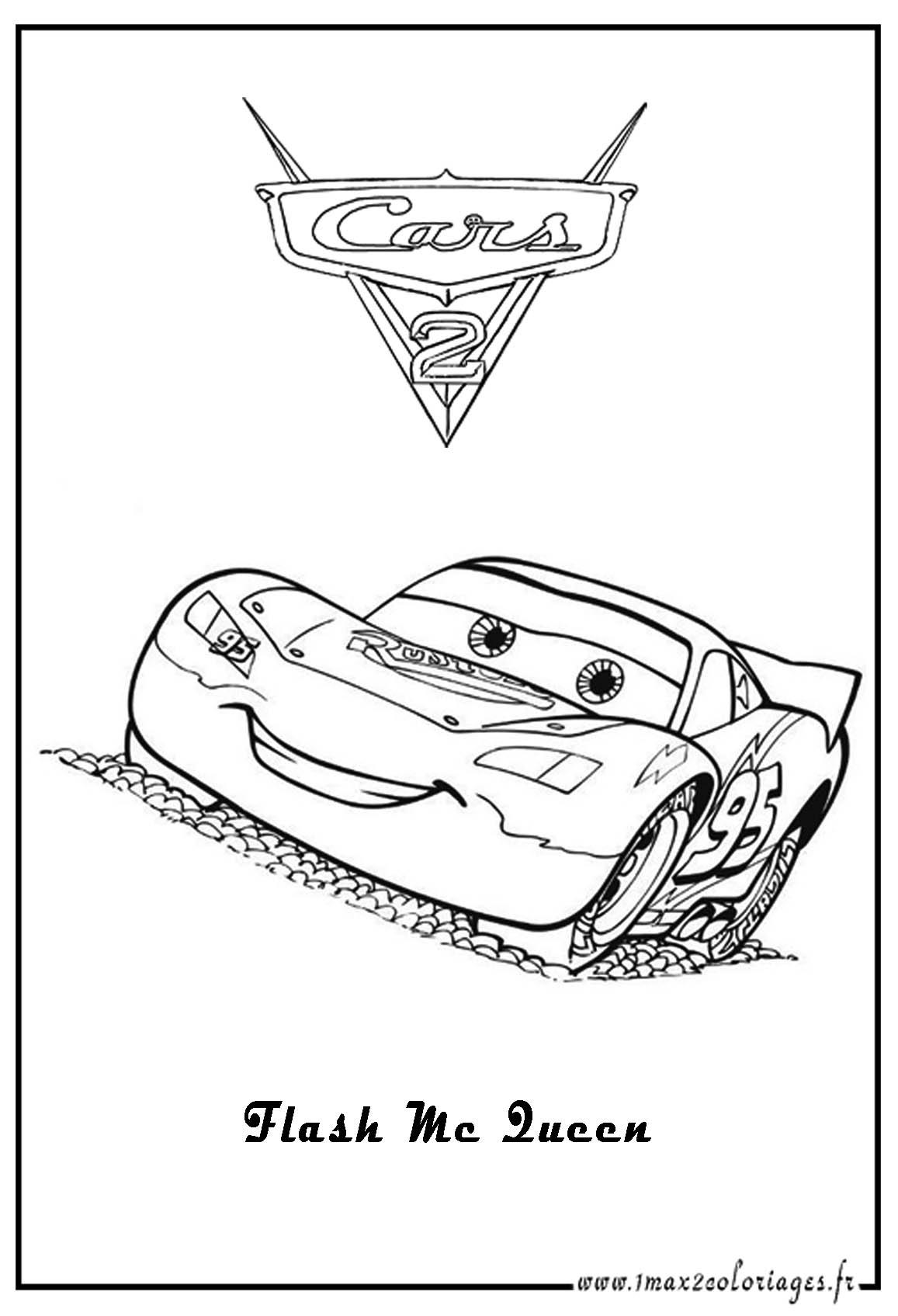 Coloriage Cars Flash Mcqueen - Les Beaux Dessins De concernant Coloriage De Flash Mcqueen