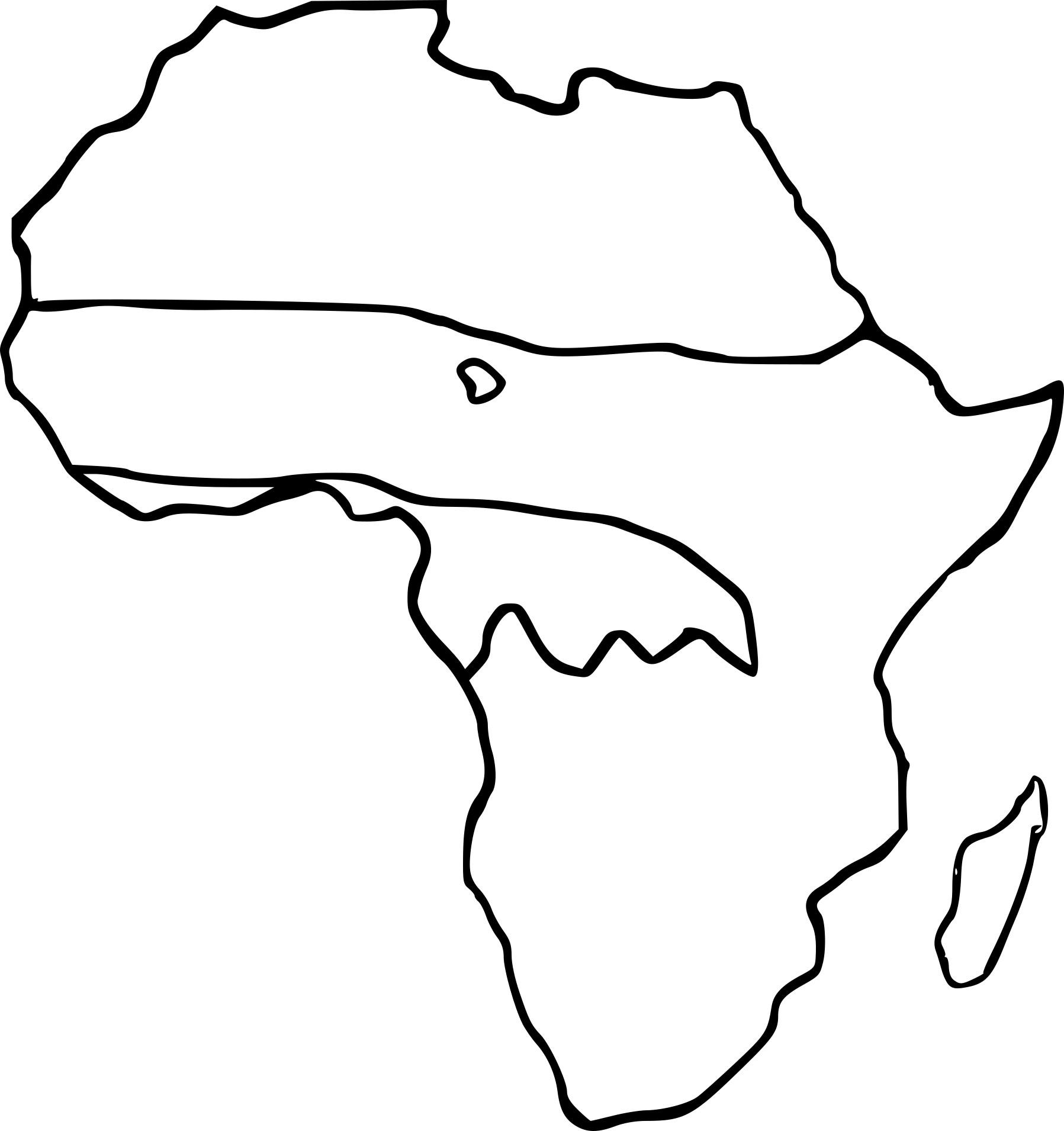 Coloriage Carte Afrique À Imprimer Sur Coloriages dedans Coloriage Afrique À Imprimer