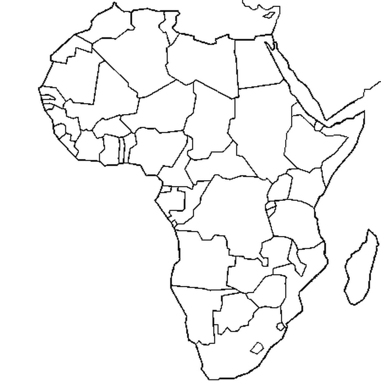 Coloriage Carte Afrique En Ligne Gratuit À Imprimer destiné Dessin Africain A Colorier