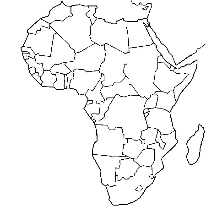 Coloriage Carte Afrique En Ligne Gratuit À Imprimer intérieur Coloriage Afrique À Imprimer