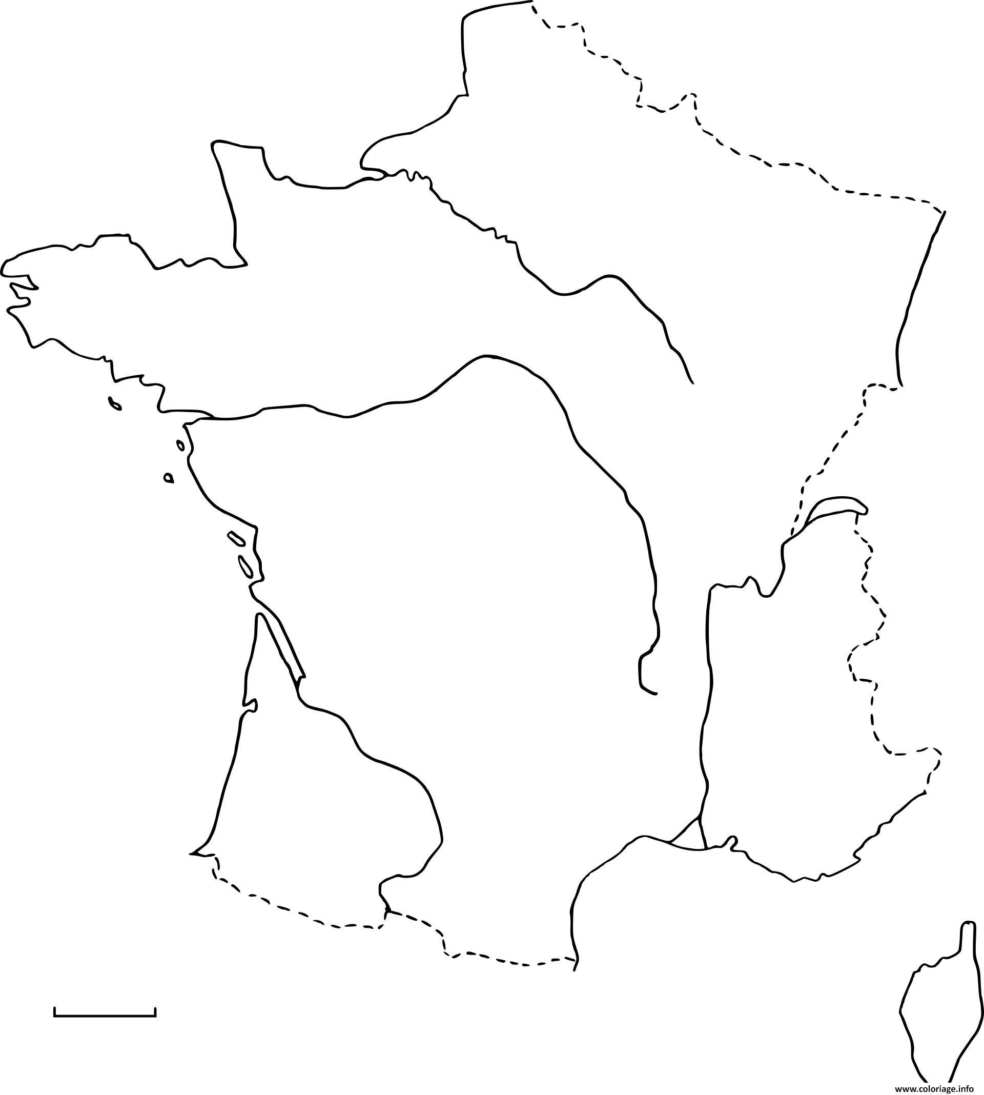 Coloriage Carte De France Vierge Dessin avec Carte Vierge De La France