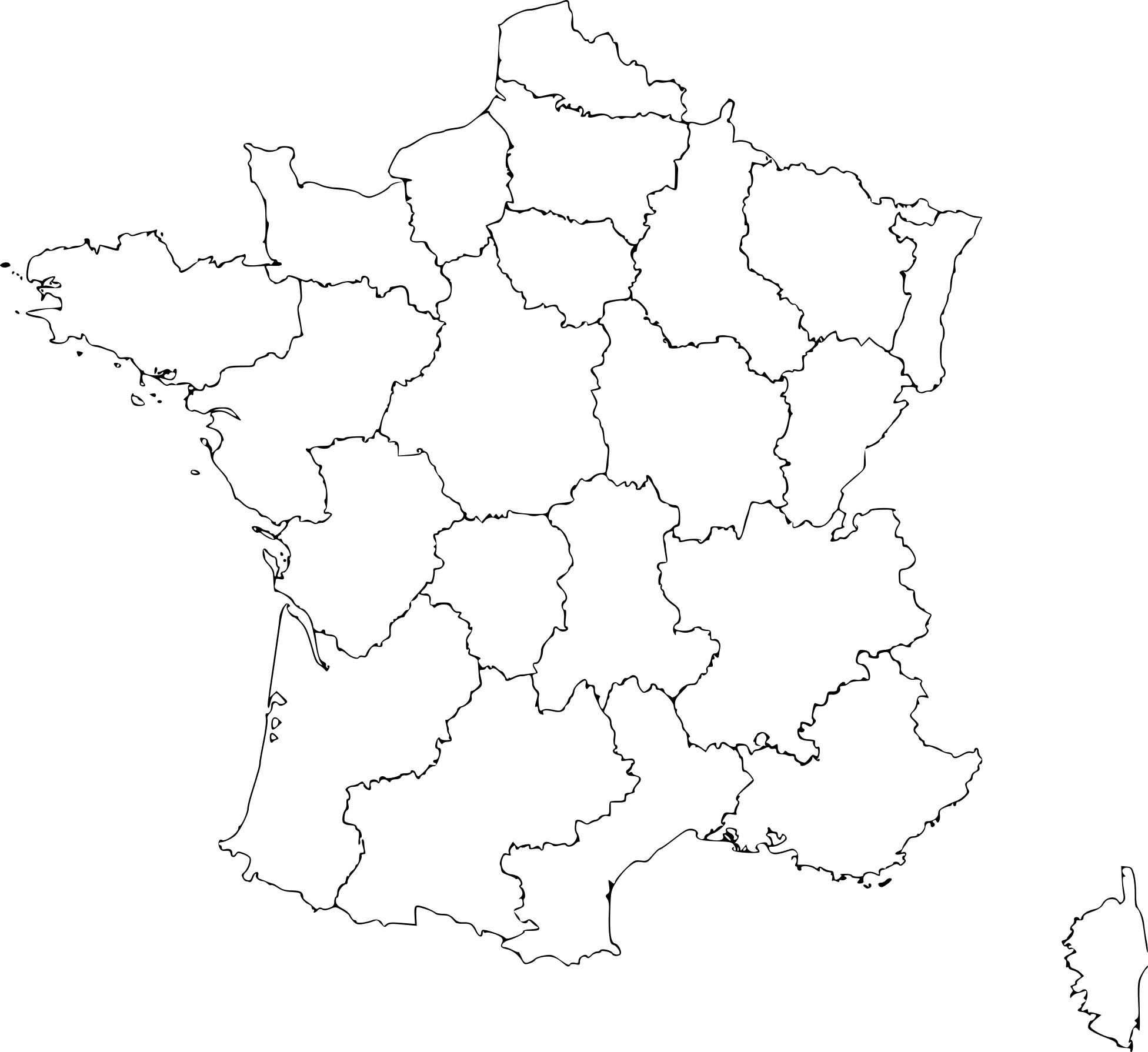 Coloriage Carte De La France À Imprimer Sur Coloriages destiné Carte De France Imprimable