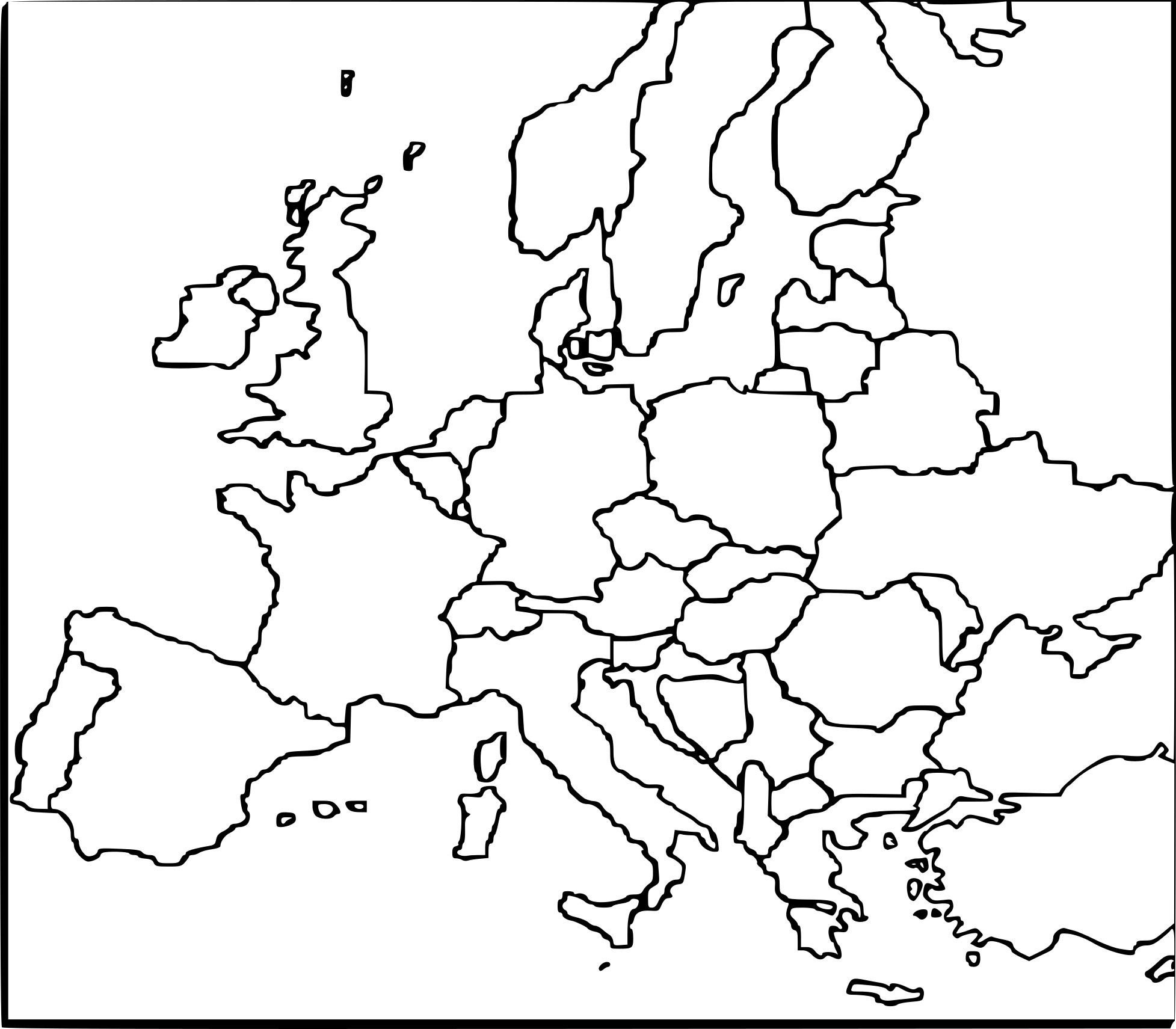Coloriage Carte De L'europe À Imprimer Sur Coloriages avec Carte De L Europe À Imprimer