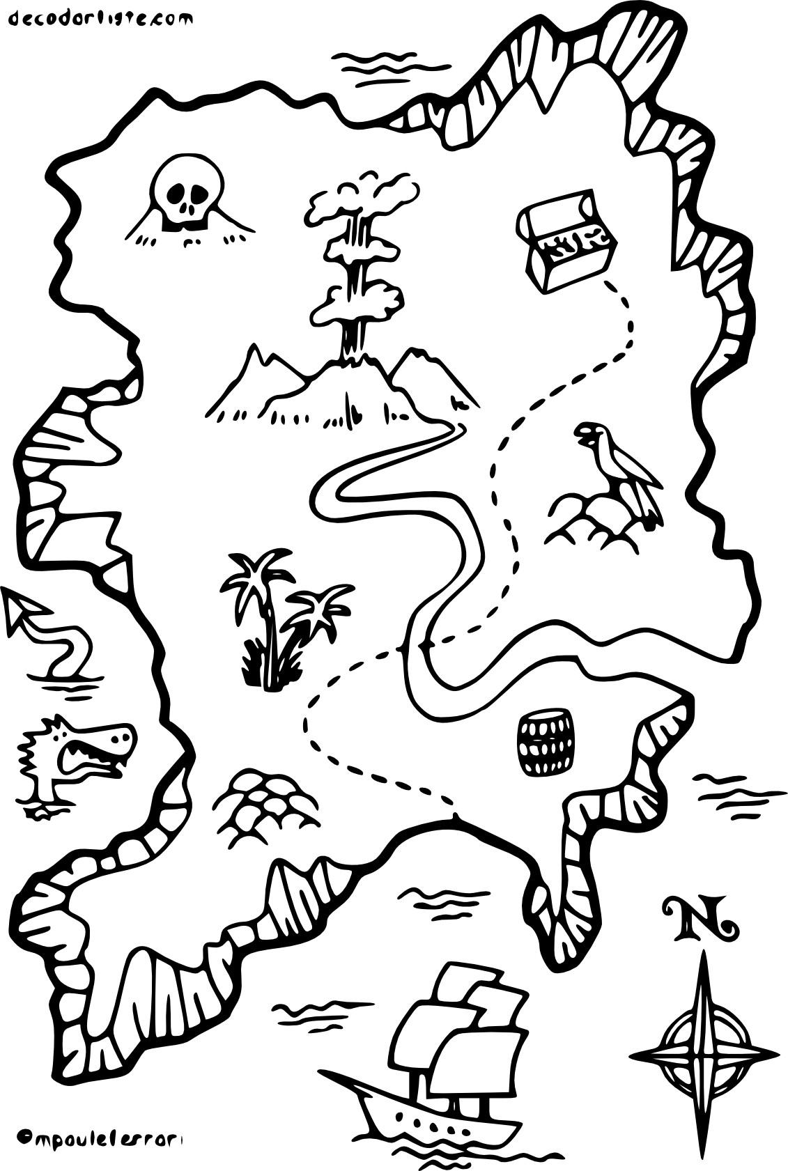 Coloriage Carte De Pirate À Imprimer Sur Coloriages destiné Dessin A Imprimer De Pirate