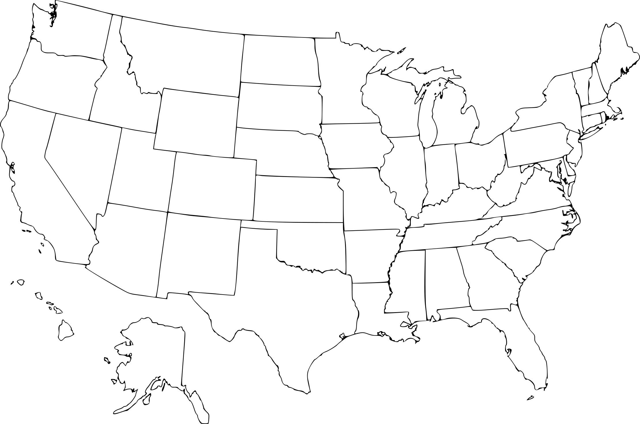 Coloriage Carte États-Unis À Imprimer concernant Carte Des Etats Unis À Imprimer