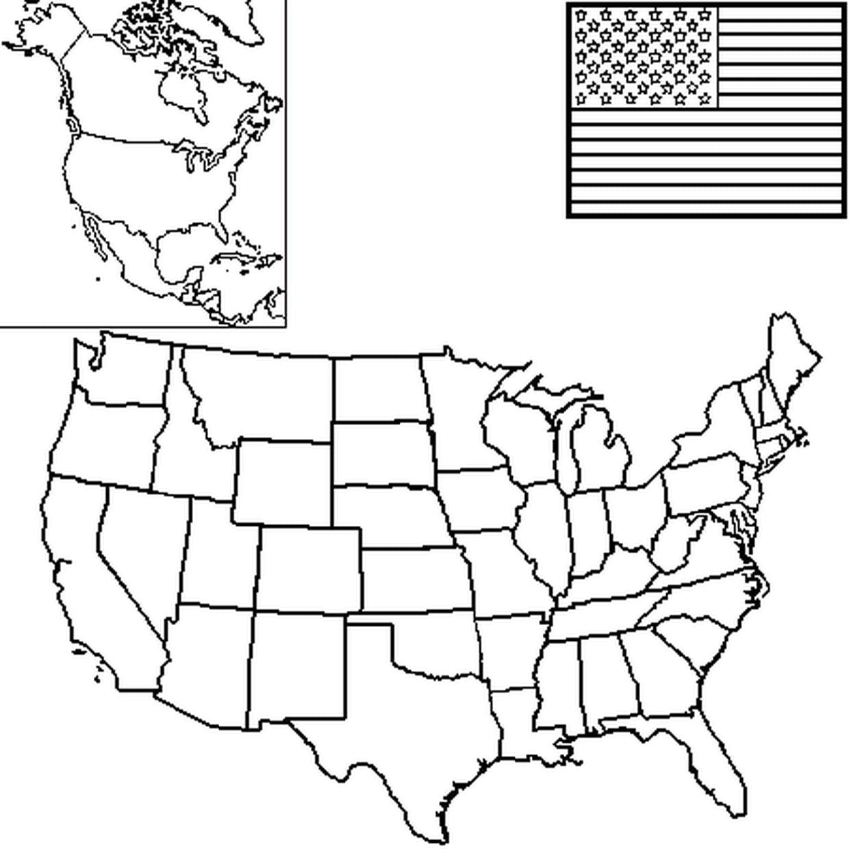 Coloriage Carte Etats Unis En Ligne Gratuit À Imprimer encequiconcerne Carte Des Etats Unis À Imprimer