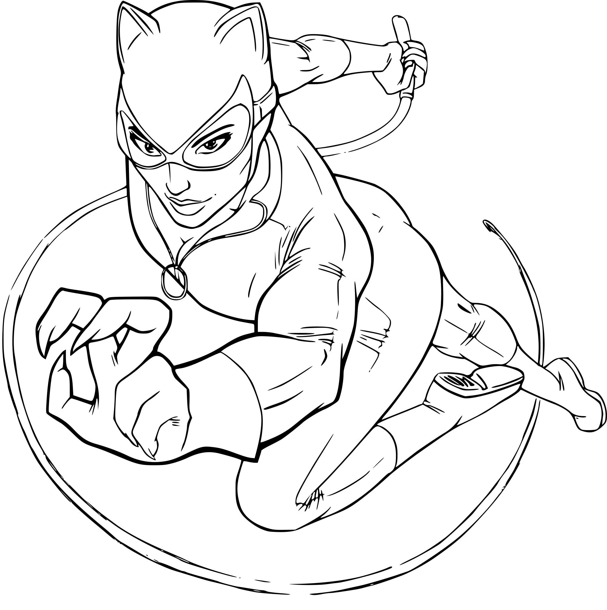 Coloriage Catwoman Dessin À Imprimer Sur Coloriages dedans Masque De Catwoman A Imprimer