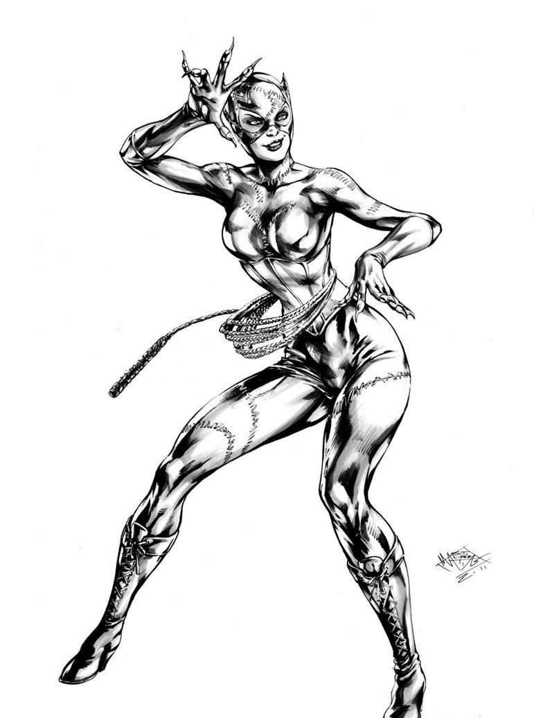 Coloriage Catwoman - Les Beaux Dessins De Super Héros À intérieur Masque De Catwoman A Imprimer