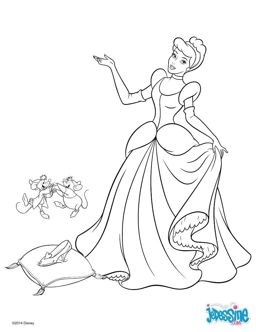 Coloriage Cendrillon Disney A Imprimer | Coloriages À pour Dessin Walt Disney À Imprimer