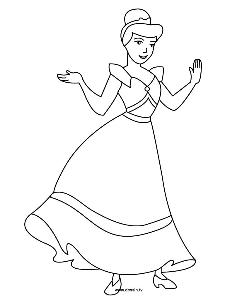 Coloriage Cendrillon - Les Beaux Dessins De Disney À dedans Cendrillon Dessin A Imprimer