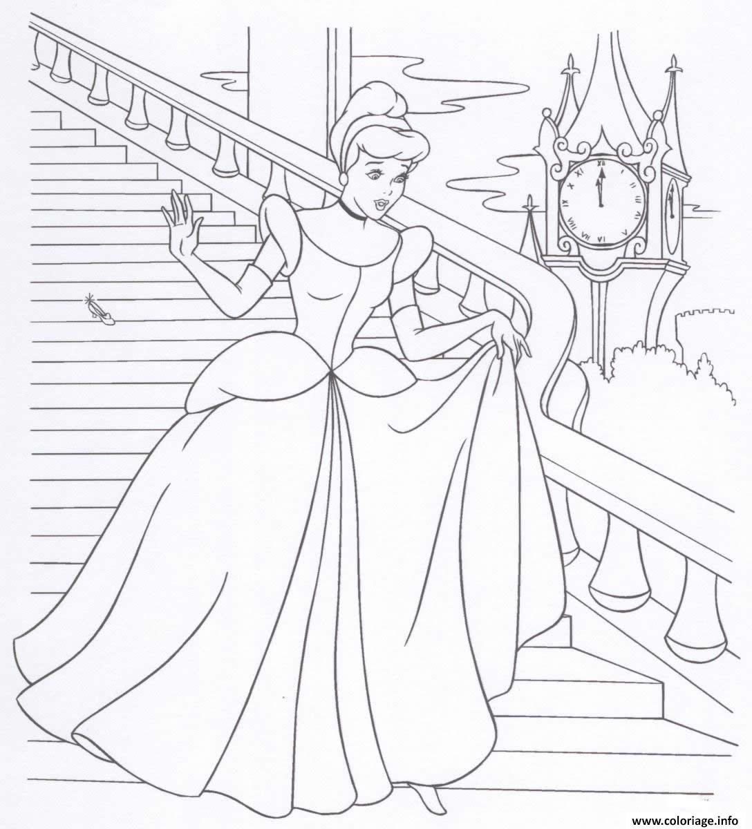 Coloriage Cendrillon Princesse 18 Dessin serapportantà Cendrillon Dessin A Imprimer