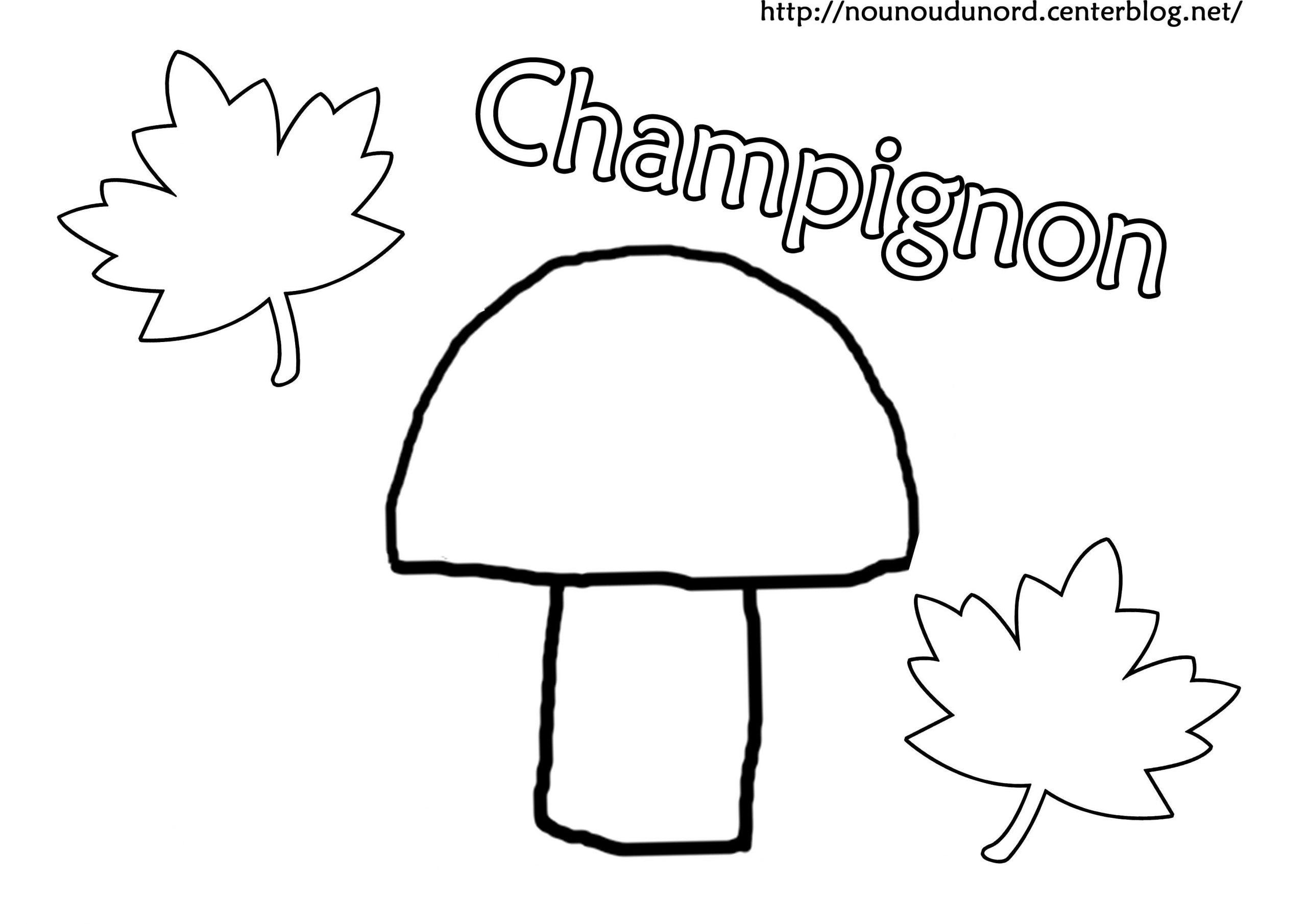 Coloriage Champignon intérieur Dessiner Un Champignon
