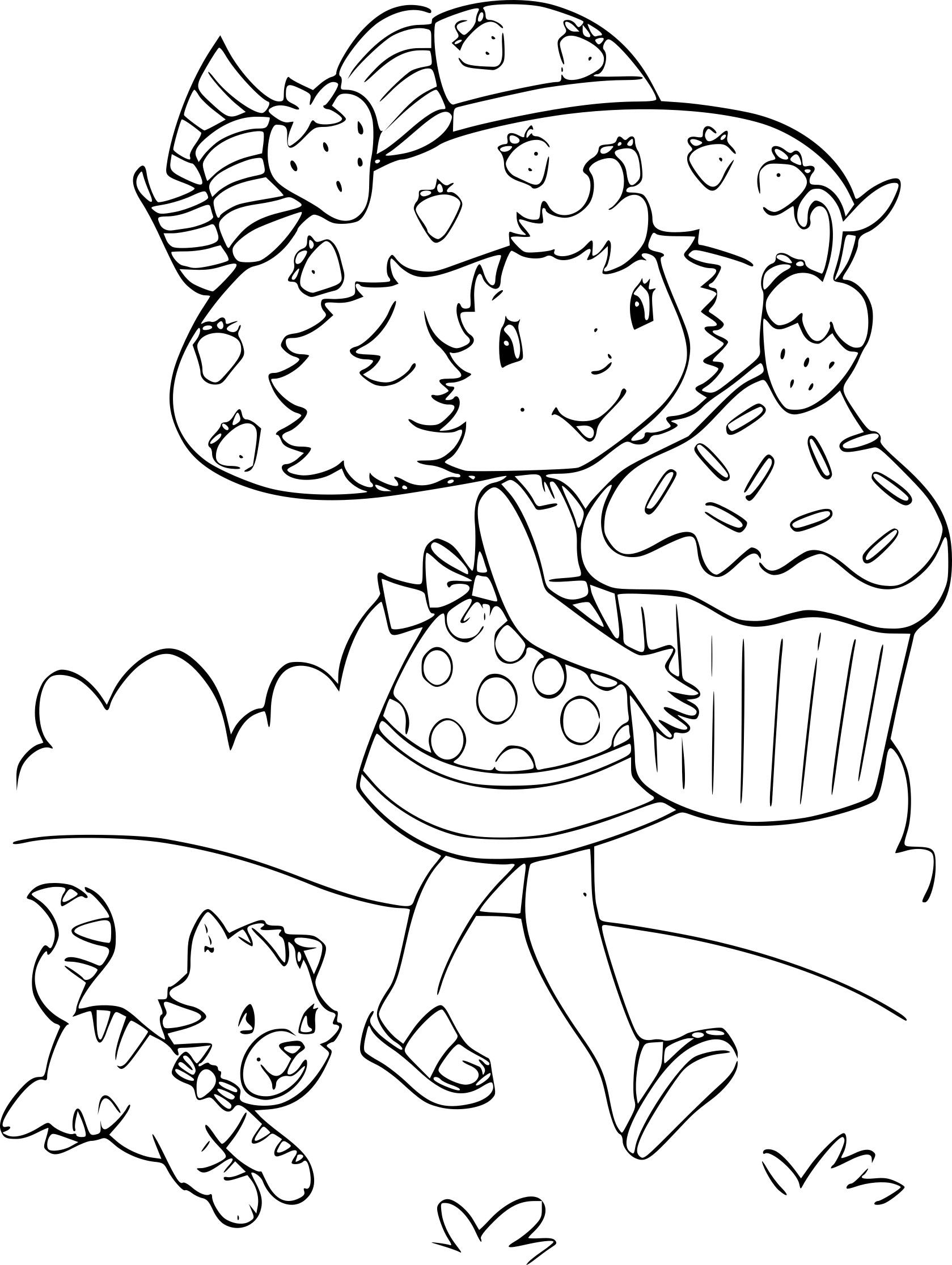 Coloriage Charlotte Aux Fraises Princesse À Imprimer Sur dedans Charlotte Au Fraise Coloriage