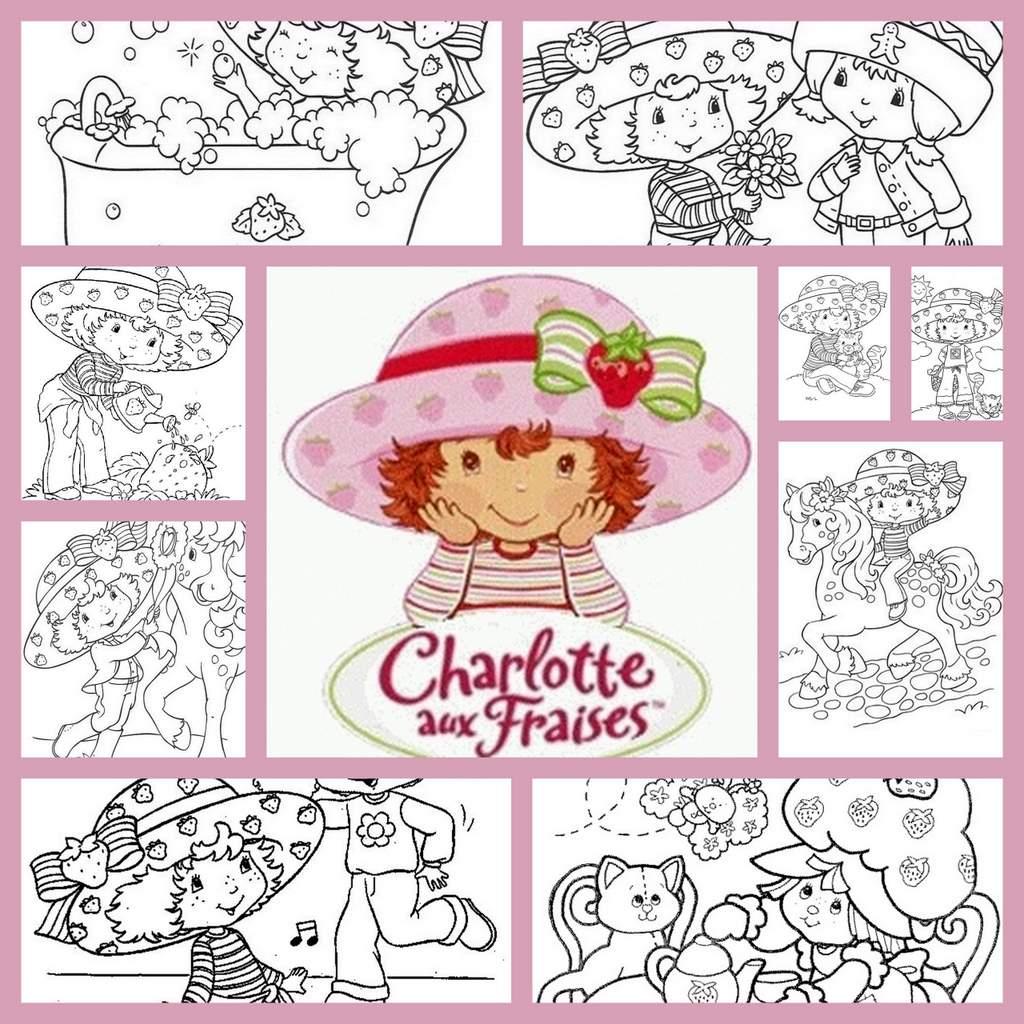 Coloriage Charlotte Aux Fraises serapportantà Charlotte Au Fraise Coloriage