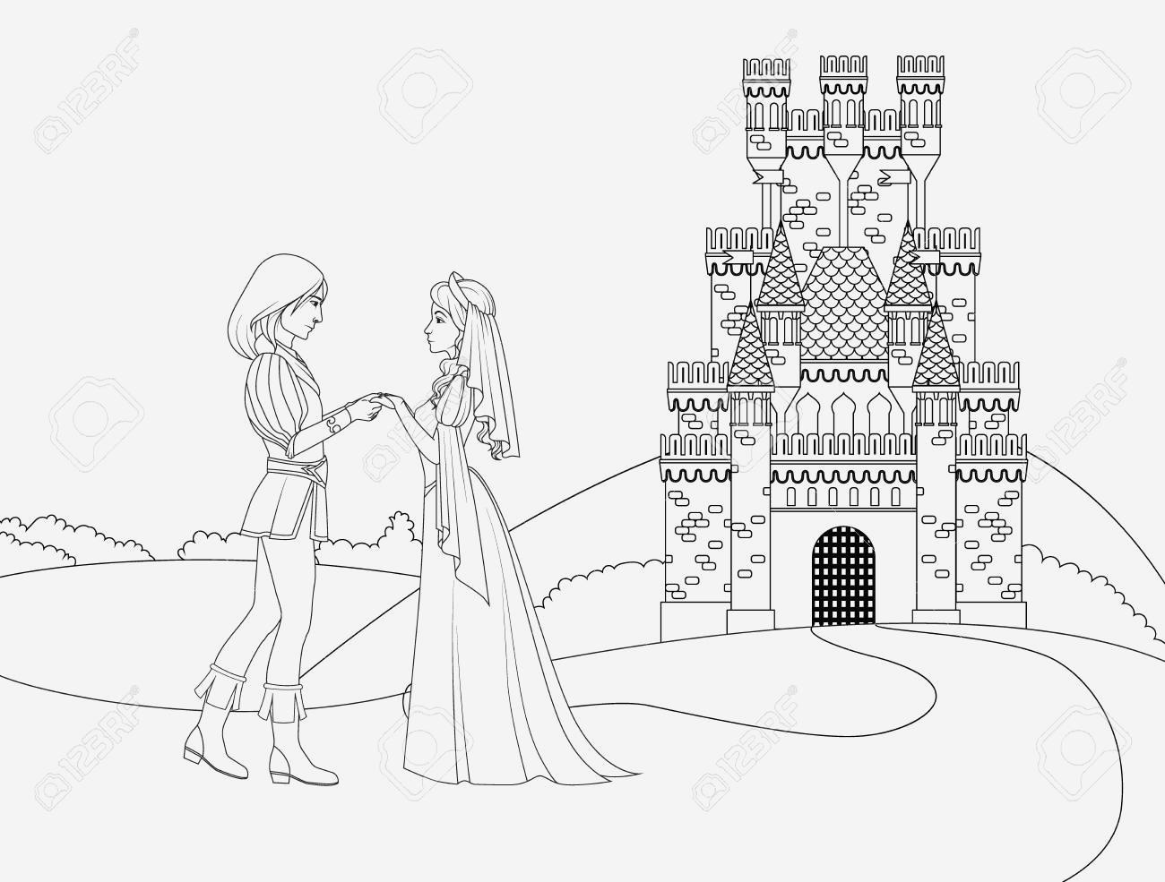 Coloriage Chateau De Princesse Gratuit Archives - Coloriages dedans Coloriage À Imprimer Chateau De Princesse