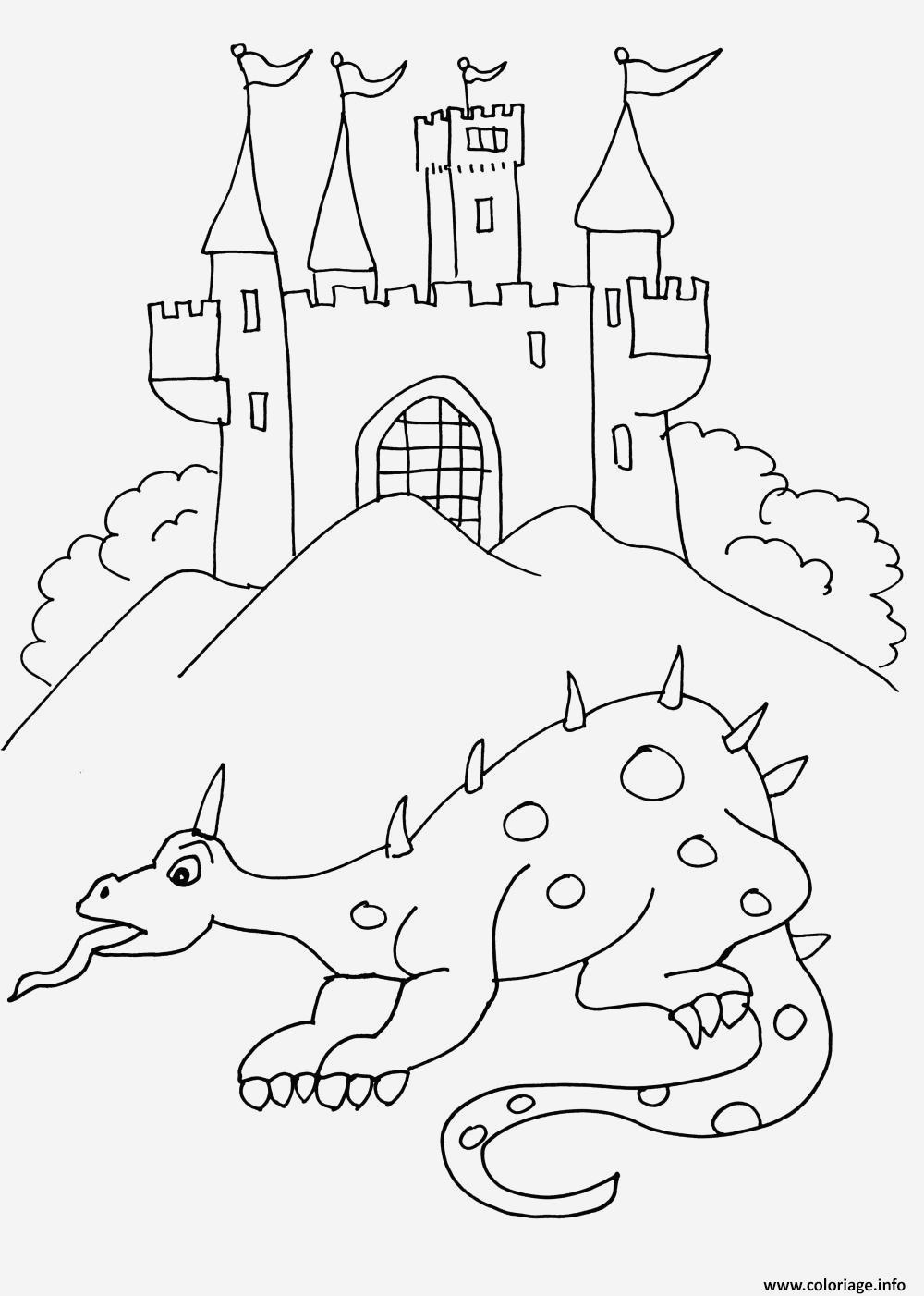 Coloriage Chateau De Princesse Gratuit Archives - Coloriages tout Coloriage À Imprimer Chateau De Princesse