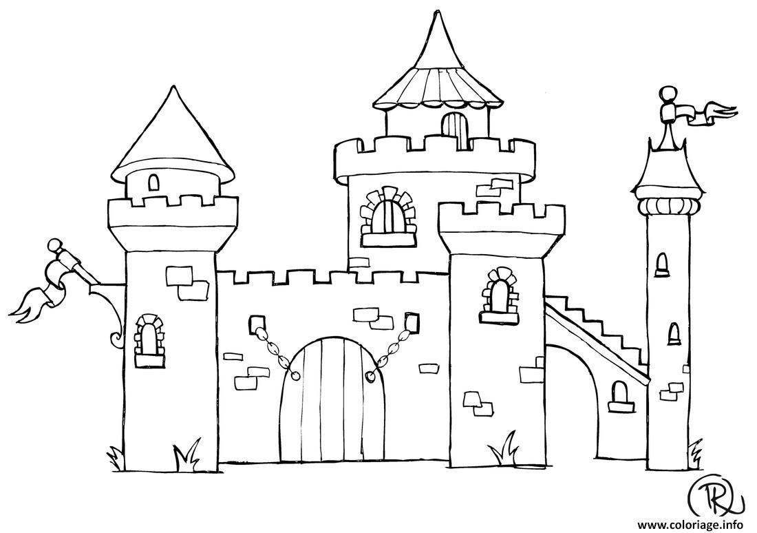 Coloriage Chateau Dessin pour Dessin Chateau Princesse