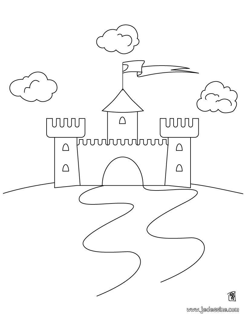 Coloriage Chateau Fort À Colorier - Dessin À Imprimer pour Image De Chateau Fort A Imprimer