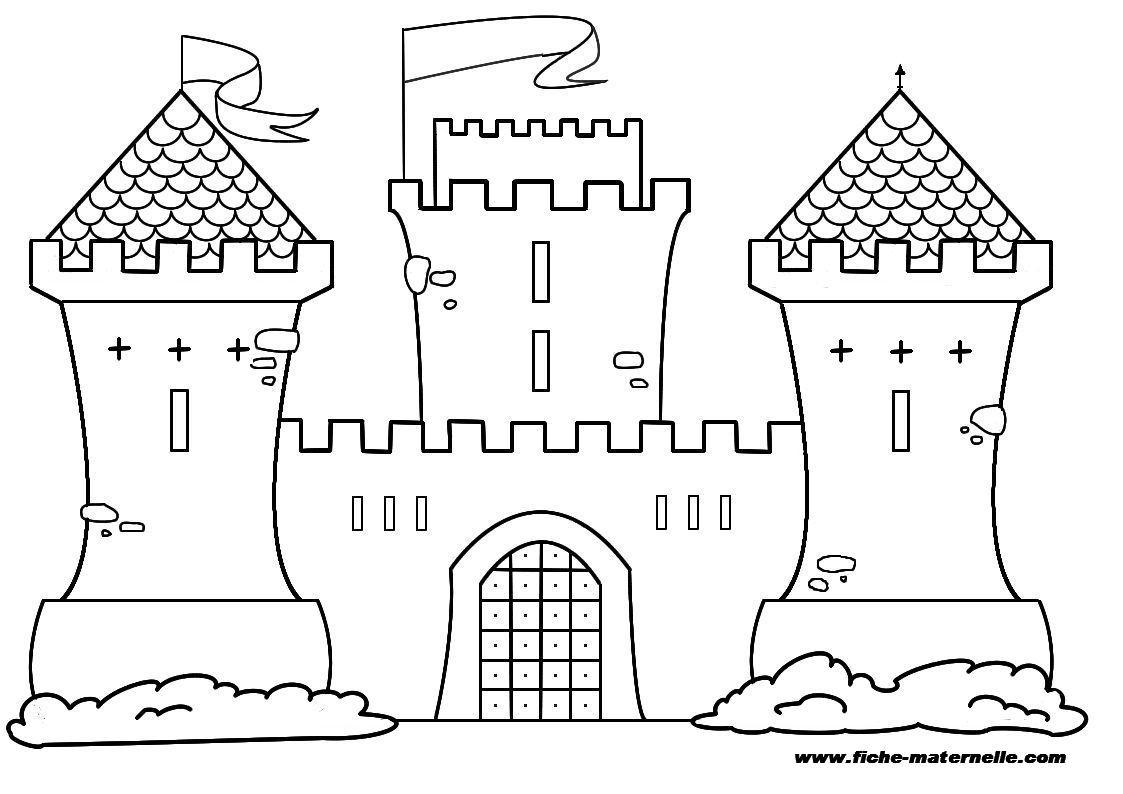 Coloriage Chateau Fort À Colorier - Dessin À Imprimer serapportantà Chateau Princesse Dessin
