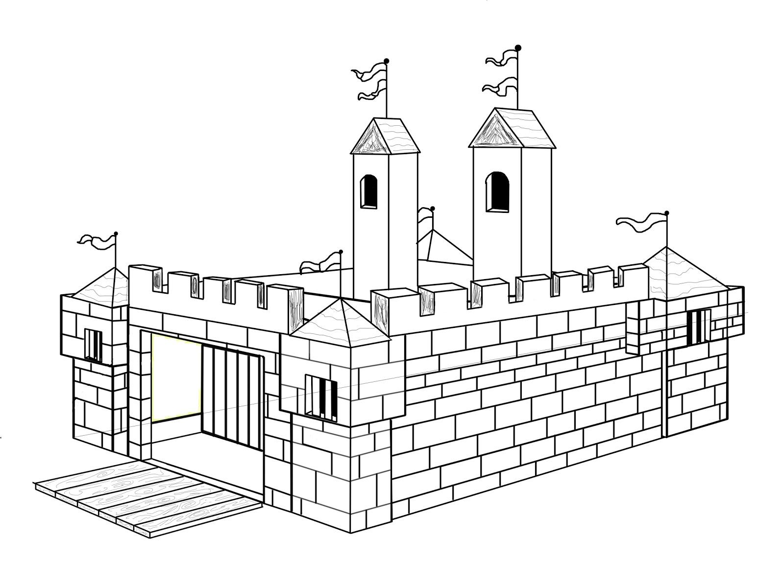 Coloriage Chateau Fort À Imprimer Sur Coloriages concernant Coloriage À Imprimer Chateau De Princesse