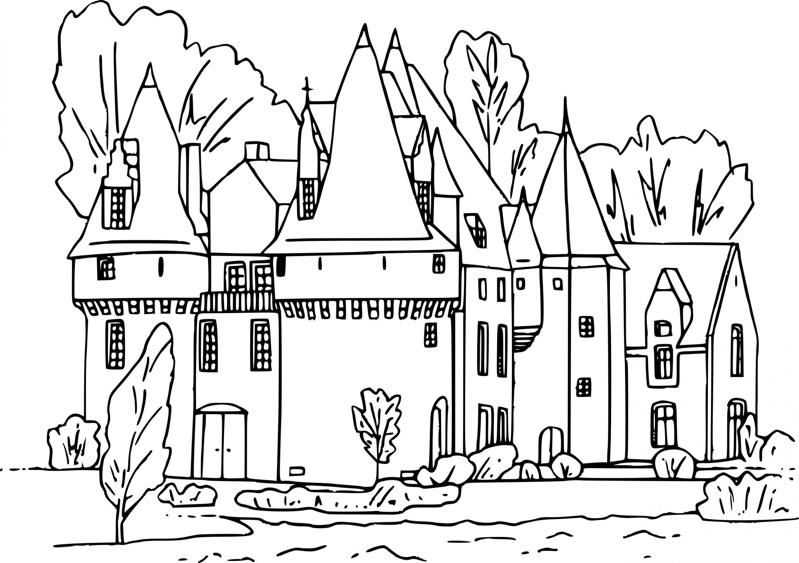 Coloriage Chateau Fort Dessin À Imprimer Sur Coloriages à Image De Chateau Fort A Imprimer
