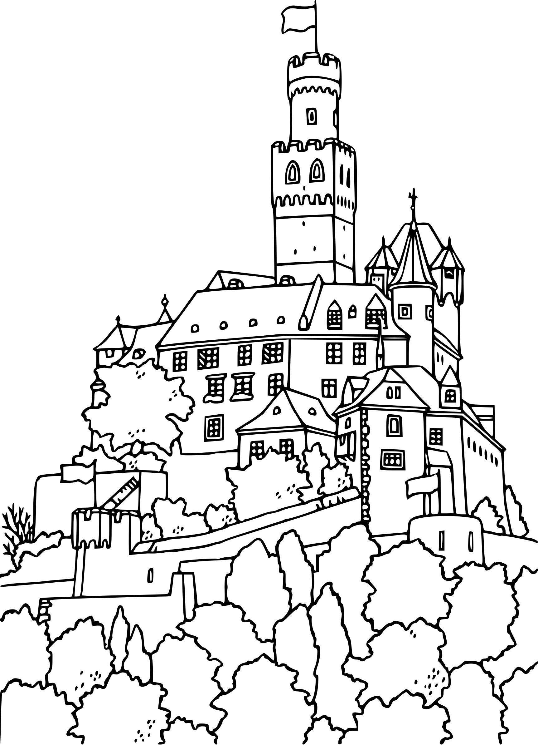 Coloriage Château Fort Moyen-Âge À Imprimer Sur Coloriages pour Image De Chateau Fort A Imprimer