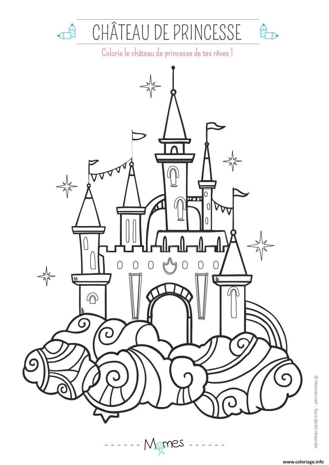 Coloriage Chateau Fort Princesse | Coloriages À Imprimer pour Image De Chateau Fort A Imprimer