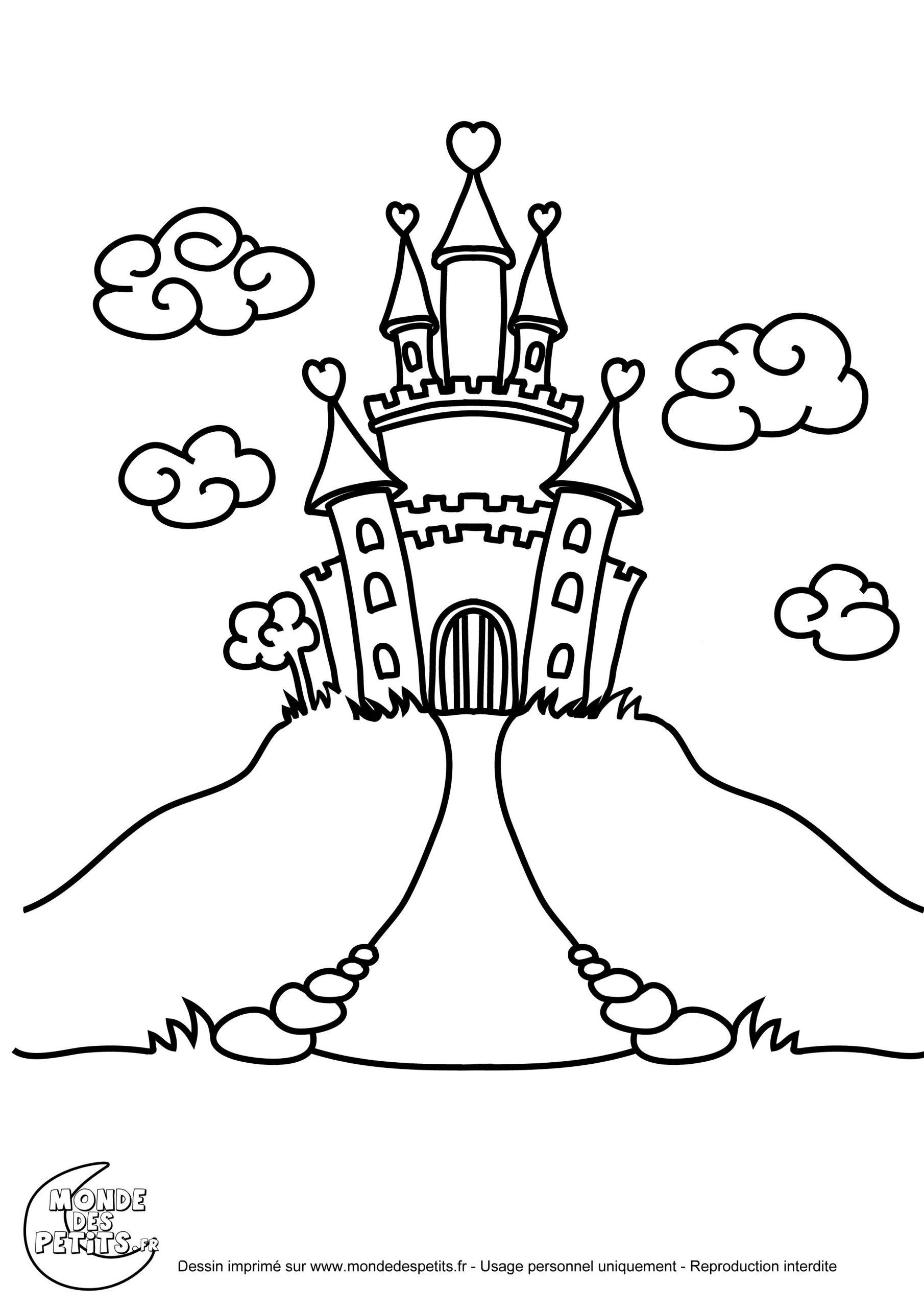 Coloriage Chateau Princesse | Coloriage Chateau, Coloriage encequiconcerne Coloriage À Imprimer Chateau De Princesse