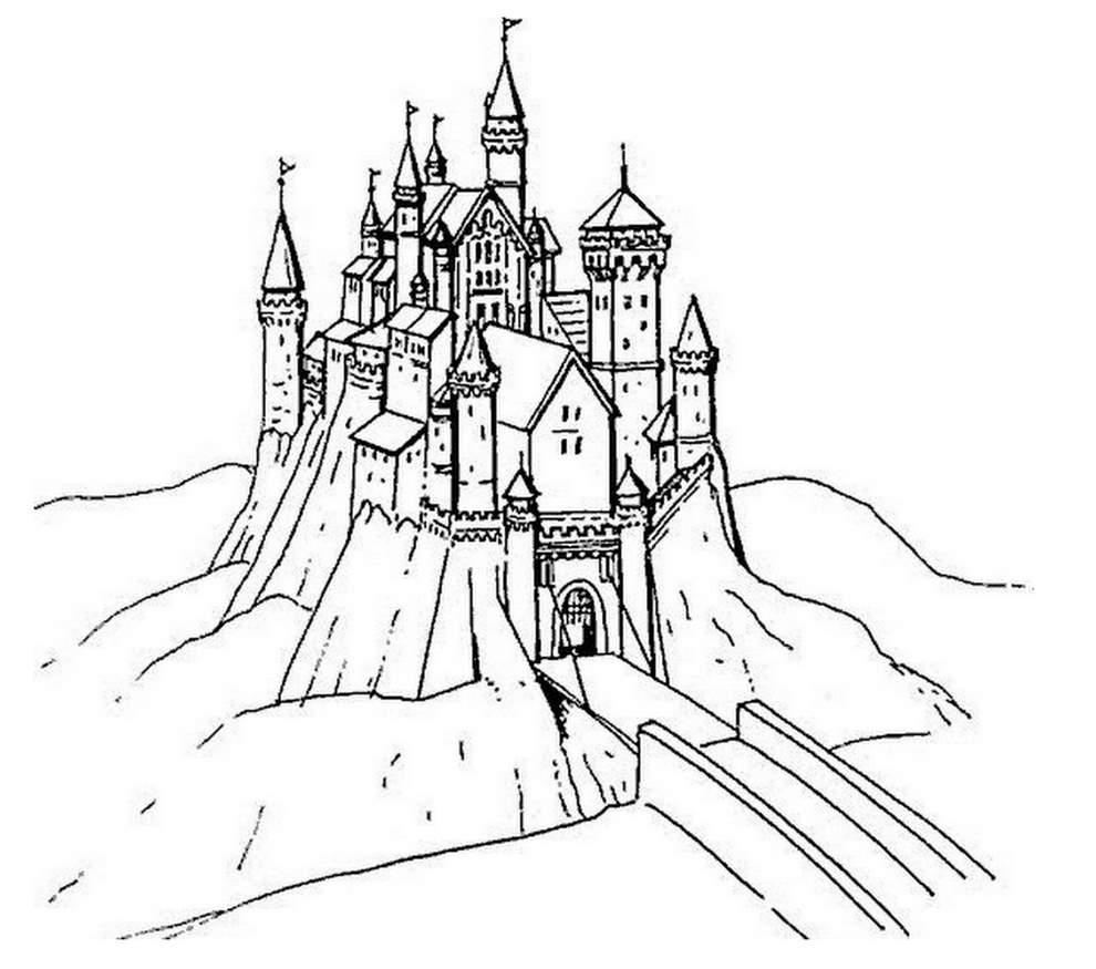 Coloriage Chateau Princesse Recherche Google. Voir Le Dessin encequiconcerne Chateau De Princesse Dessin