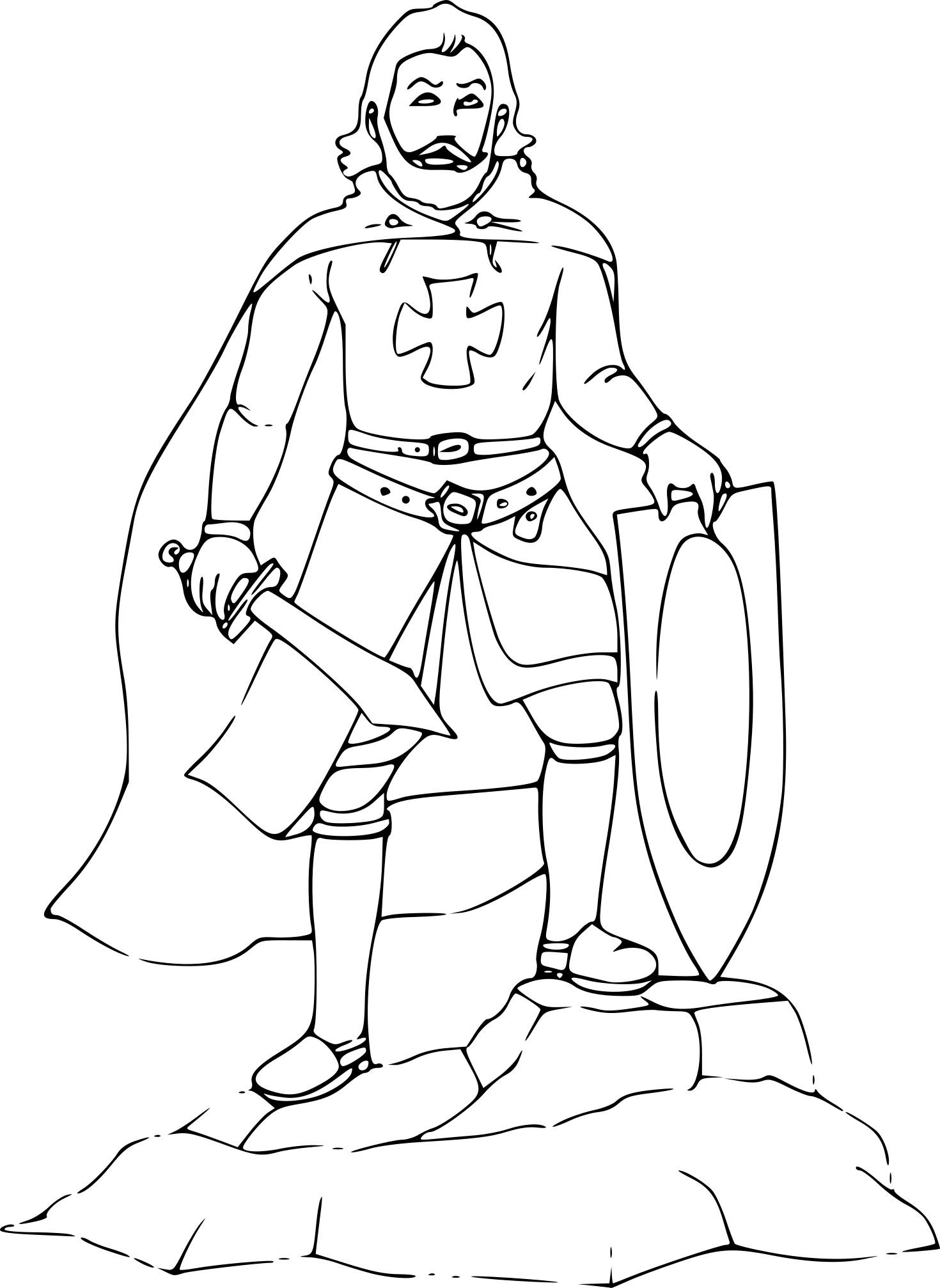 Coloriage Chevalier Avec Une Épée À Imprimer Sur Coloriages destiné Coloriage D Épée