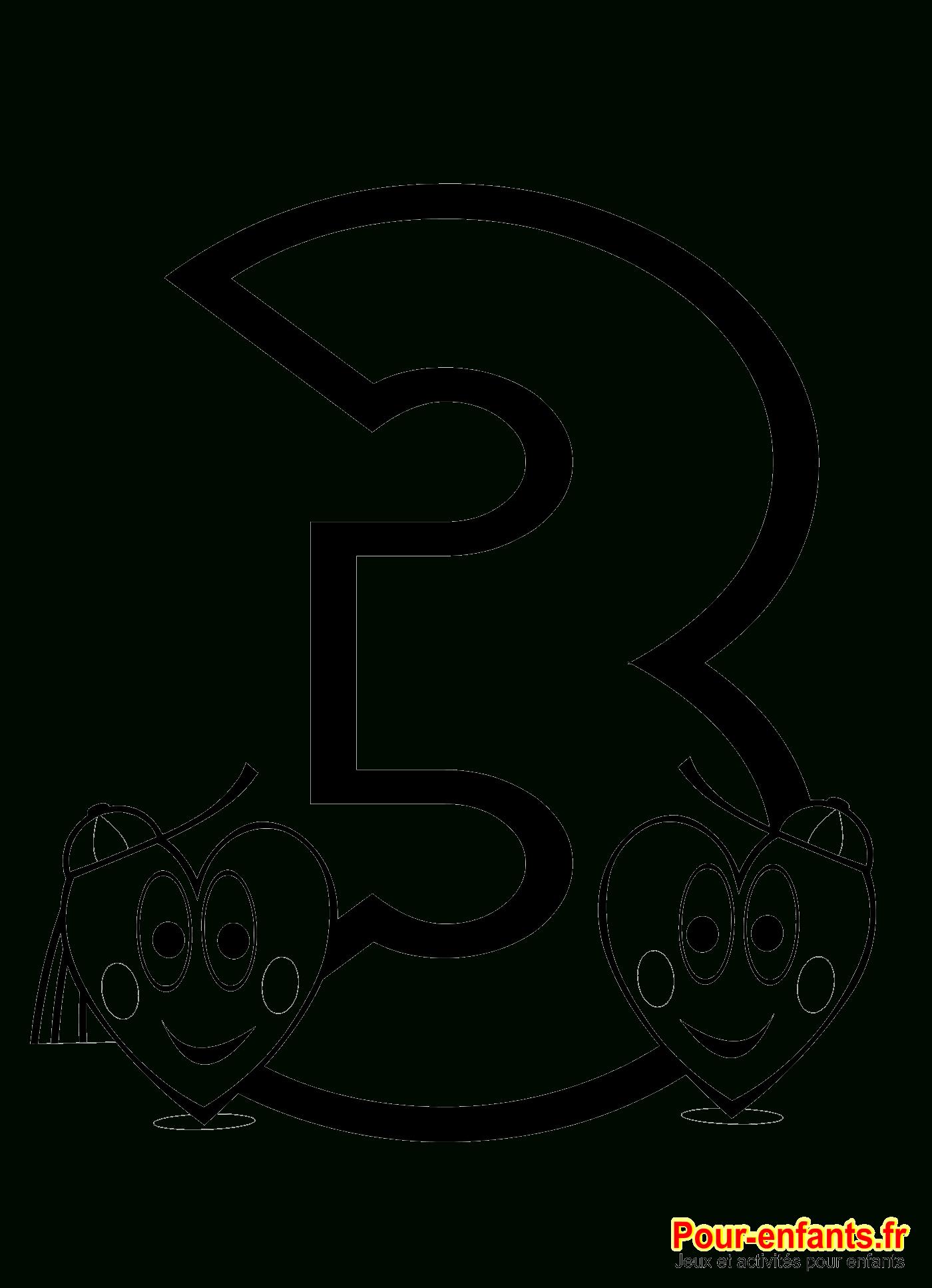 Coloriage Chiffre 3 À Imprimer Nombre 3 Chiffres Trois Grand destiné Dessin Chiffre Romain